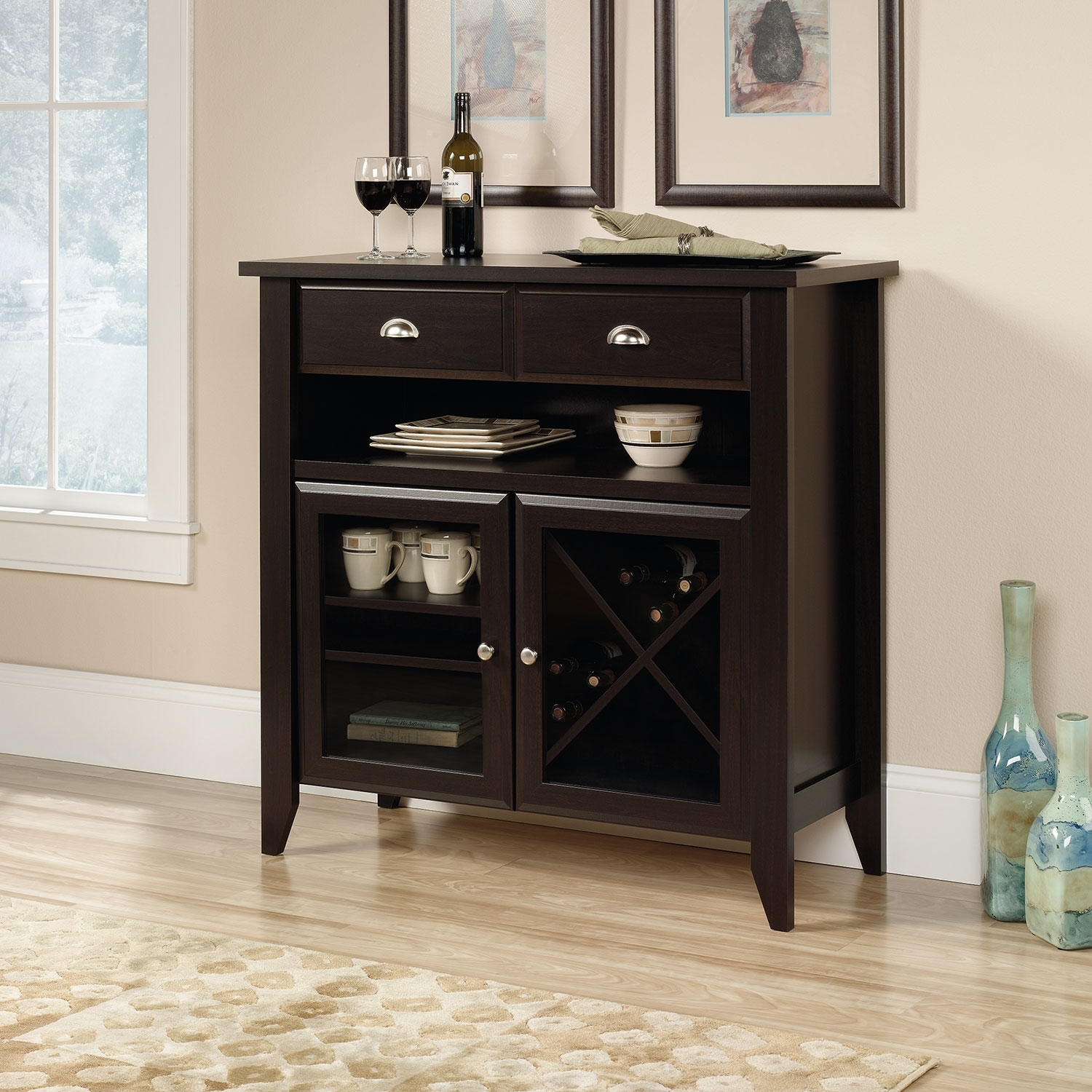 White Accent Storage Cabinet