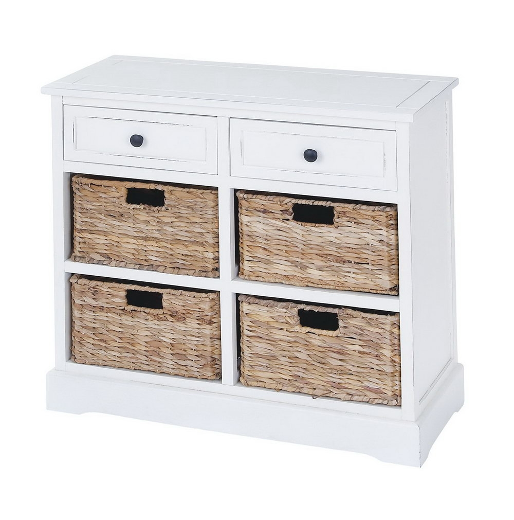 White Storage Cabinets With Baskets