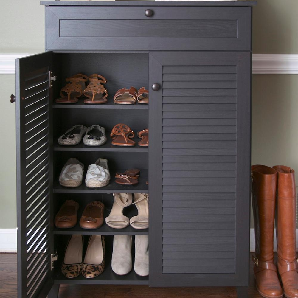 Permalink to Brown Shoe Storage Cabinet
