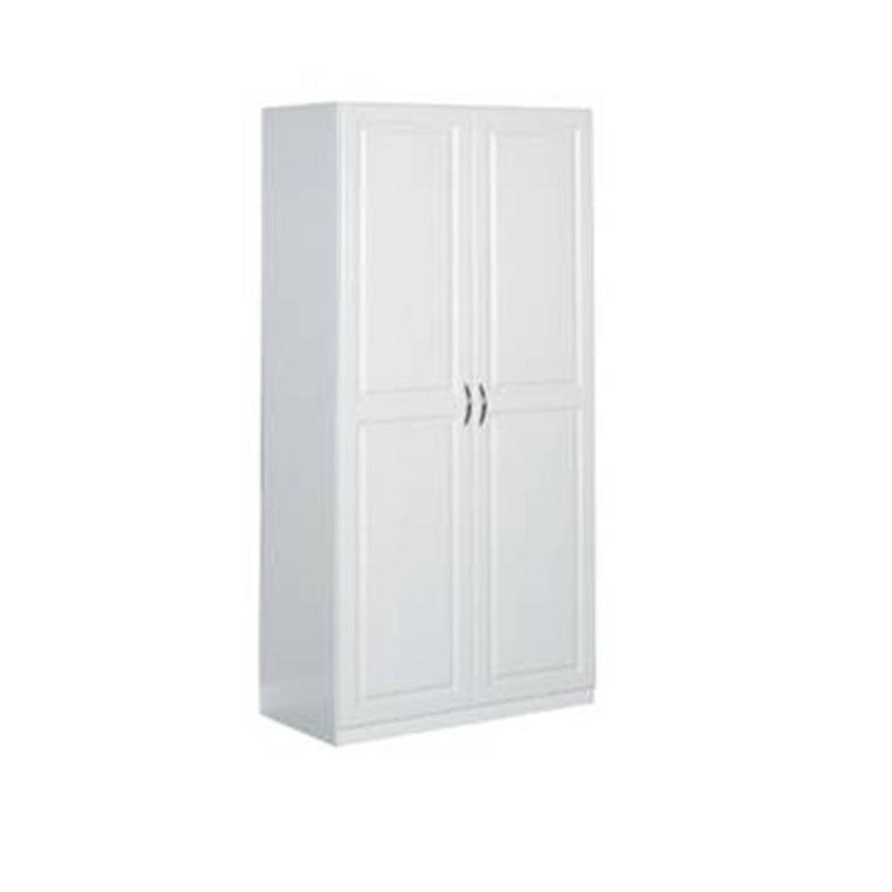 Closetmaid 36 X 72 2 Door Raised Panel Storage Cabinetclosetmaid 36 in laminated 2 door raised panel storage cabinet in