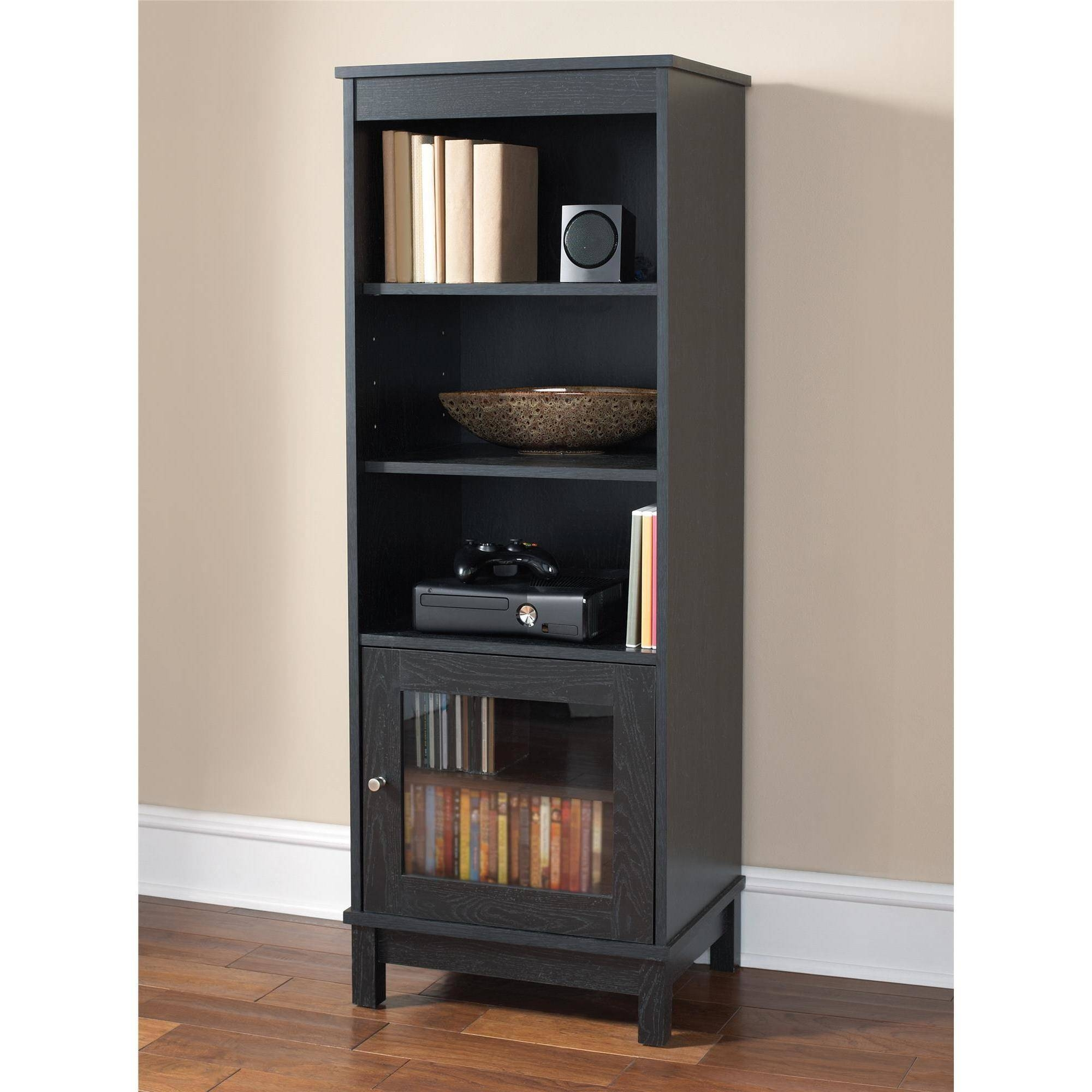 Media Tower Storage Cabinet