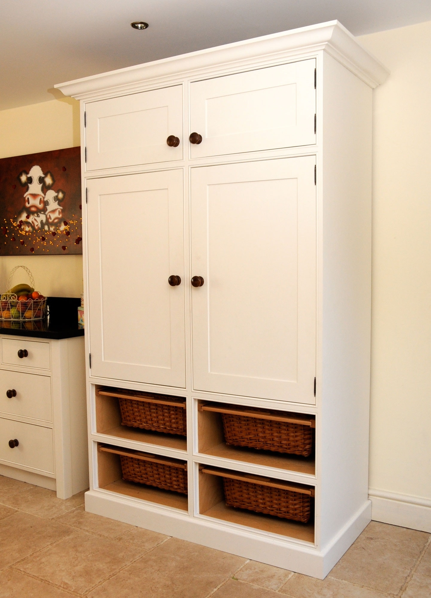 Tall Storage Cabinet With Baskets