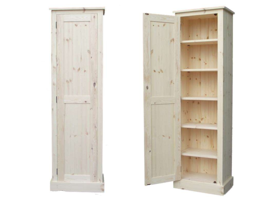 Tall Wood Utility Storage Cabinet