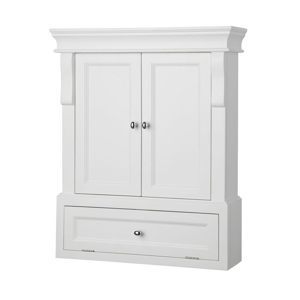 White Cabinets For Bathroom Storage
