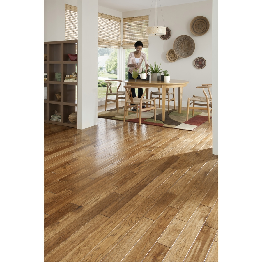 Great Lakes Wood Floors Hickory Sculpted Saddle Wood Flooring