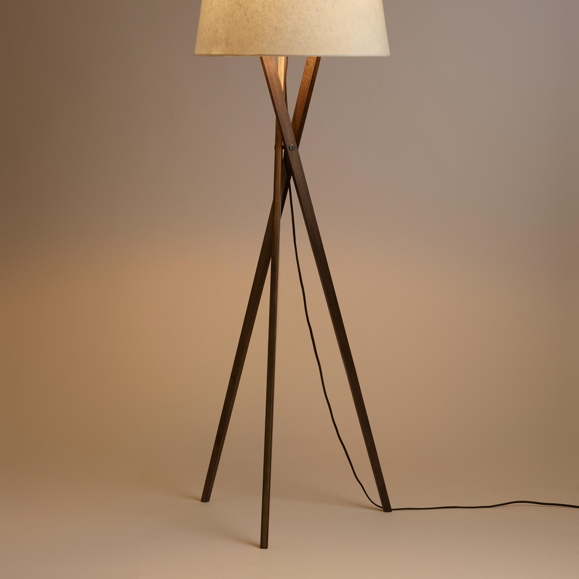 Threshold Washed Wood Floor Lamp