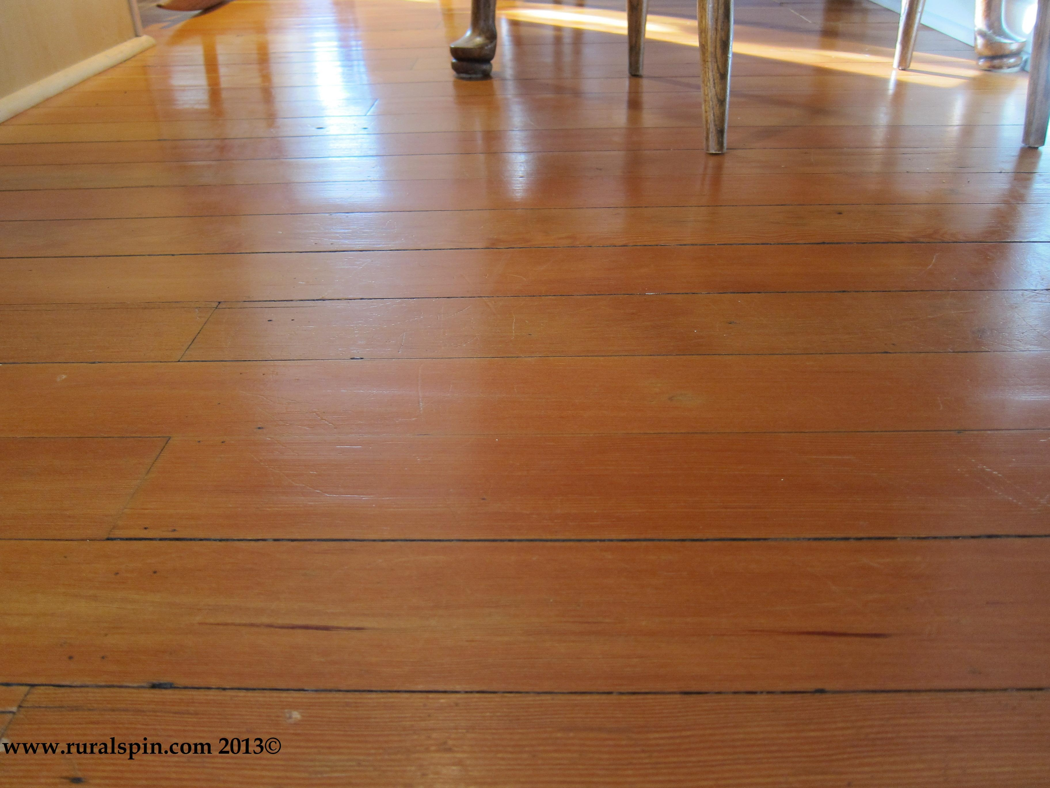 Mopping Wood Floors With Tea