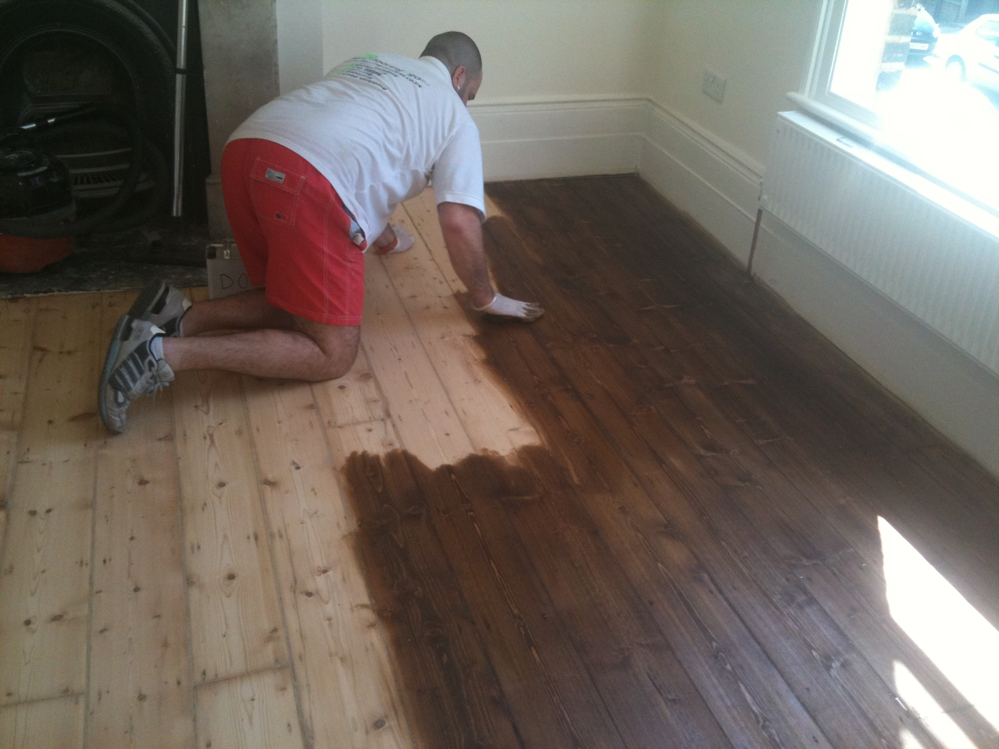 Staining Pine Floors Dark Wood Flooring