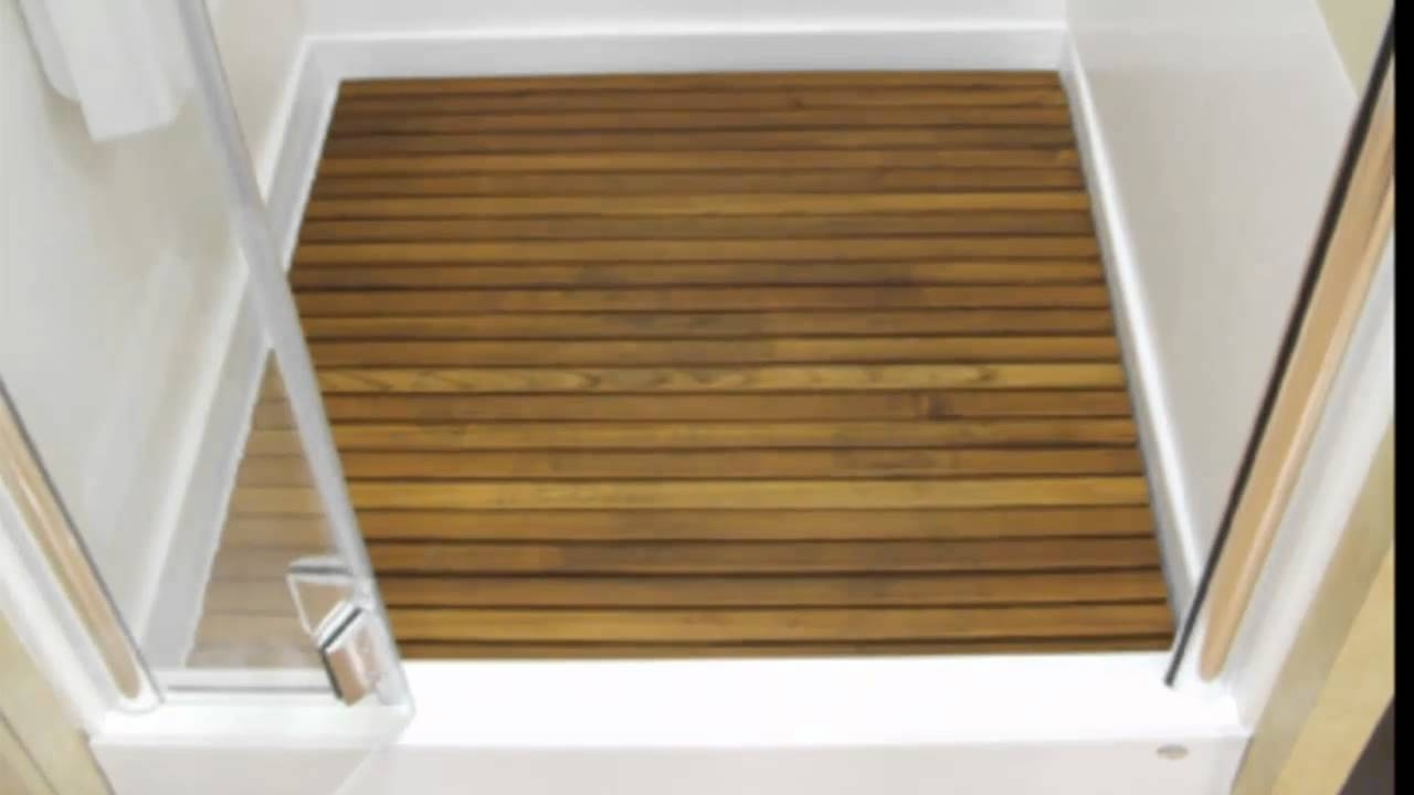 Teak Wood Shower Floor Insert