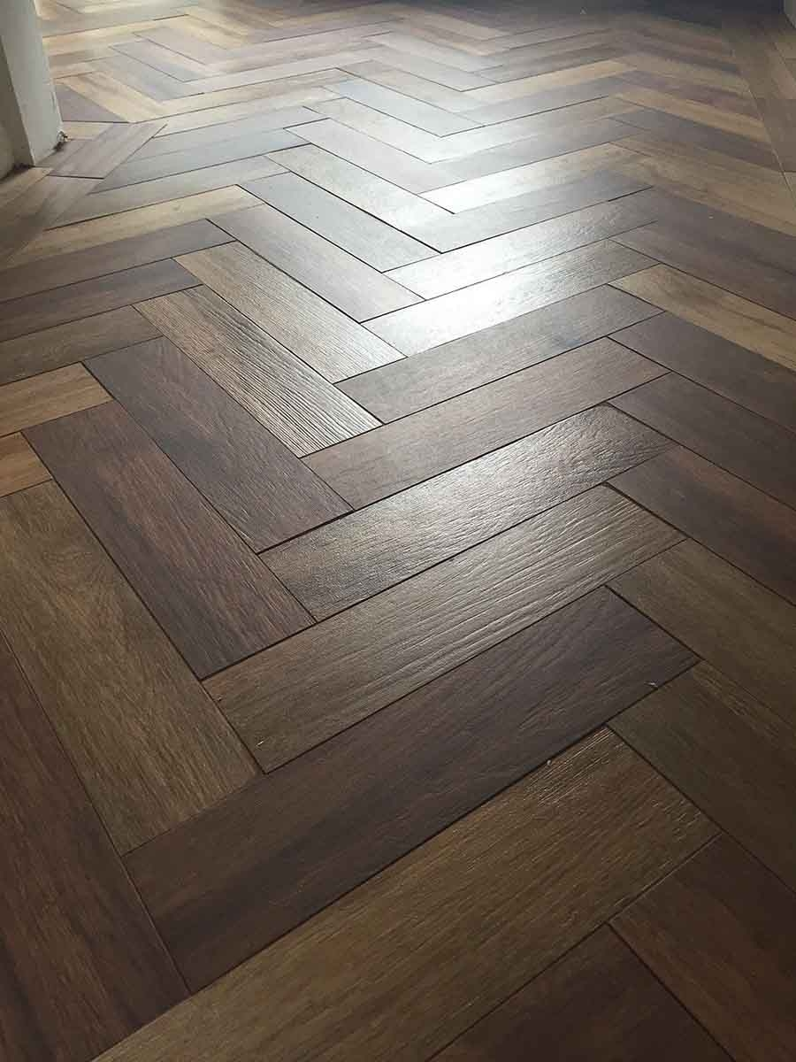 Black Wood Effect Ceramic Floor Tiles