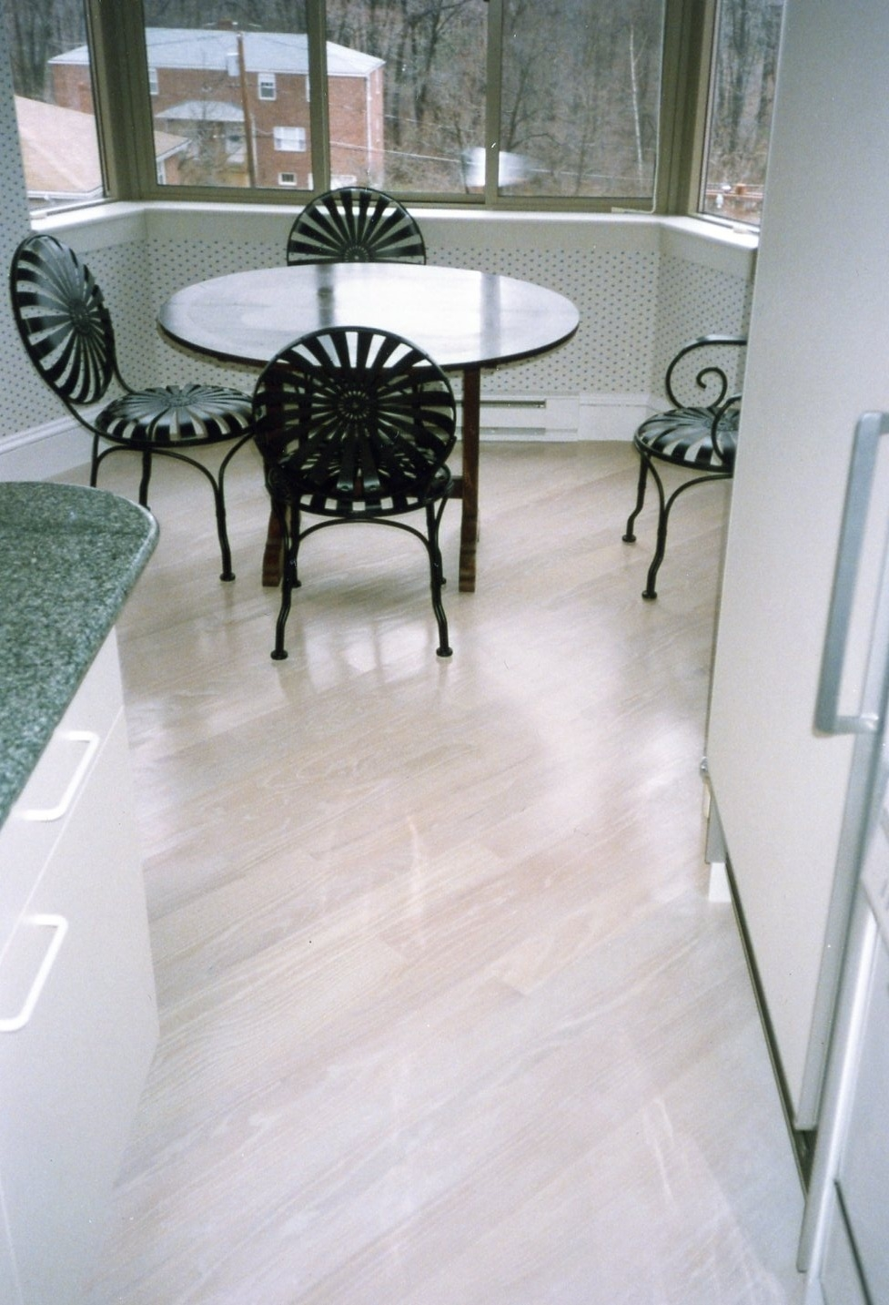 White Pickled Wood Floors