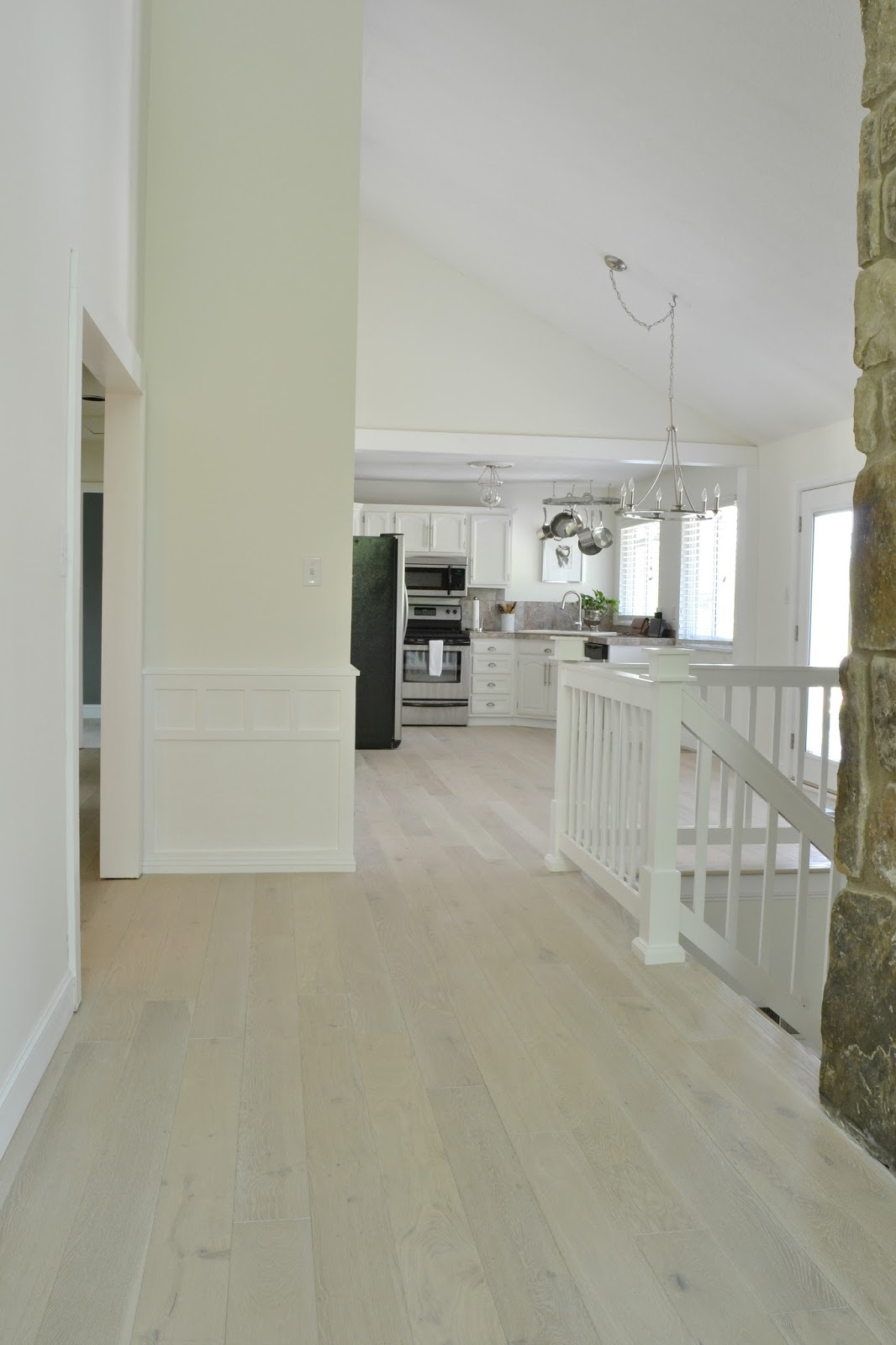 White Wash Wood Floor Tile