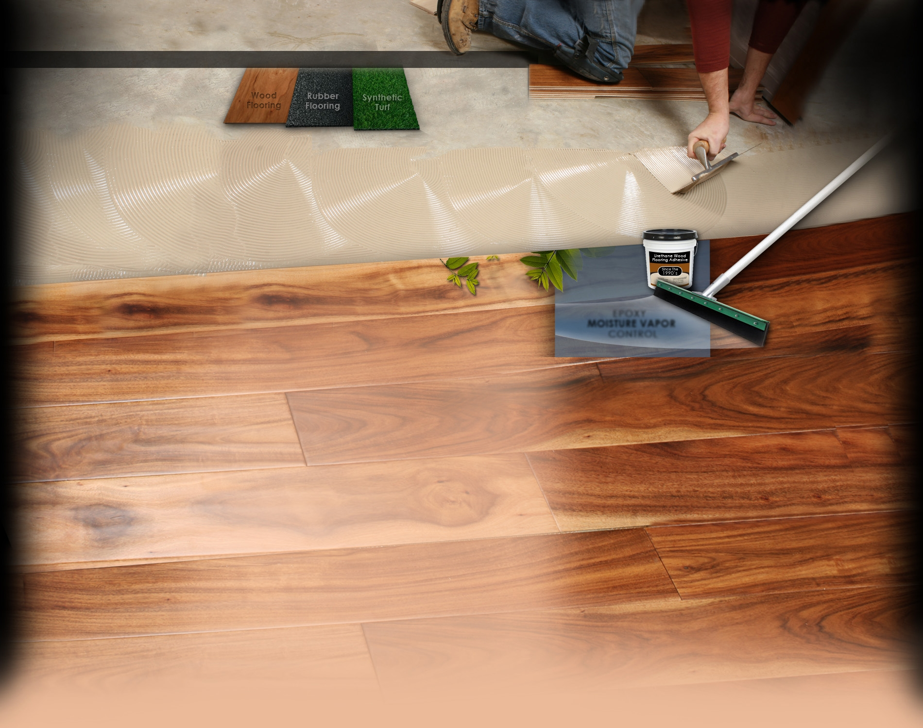 Wood Flooring Adhesive And Moisture Barrier