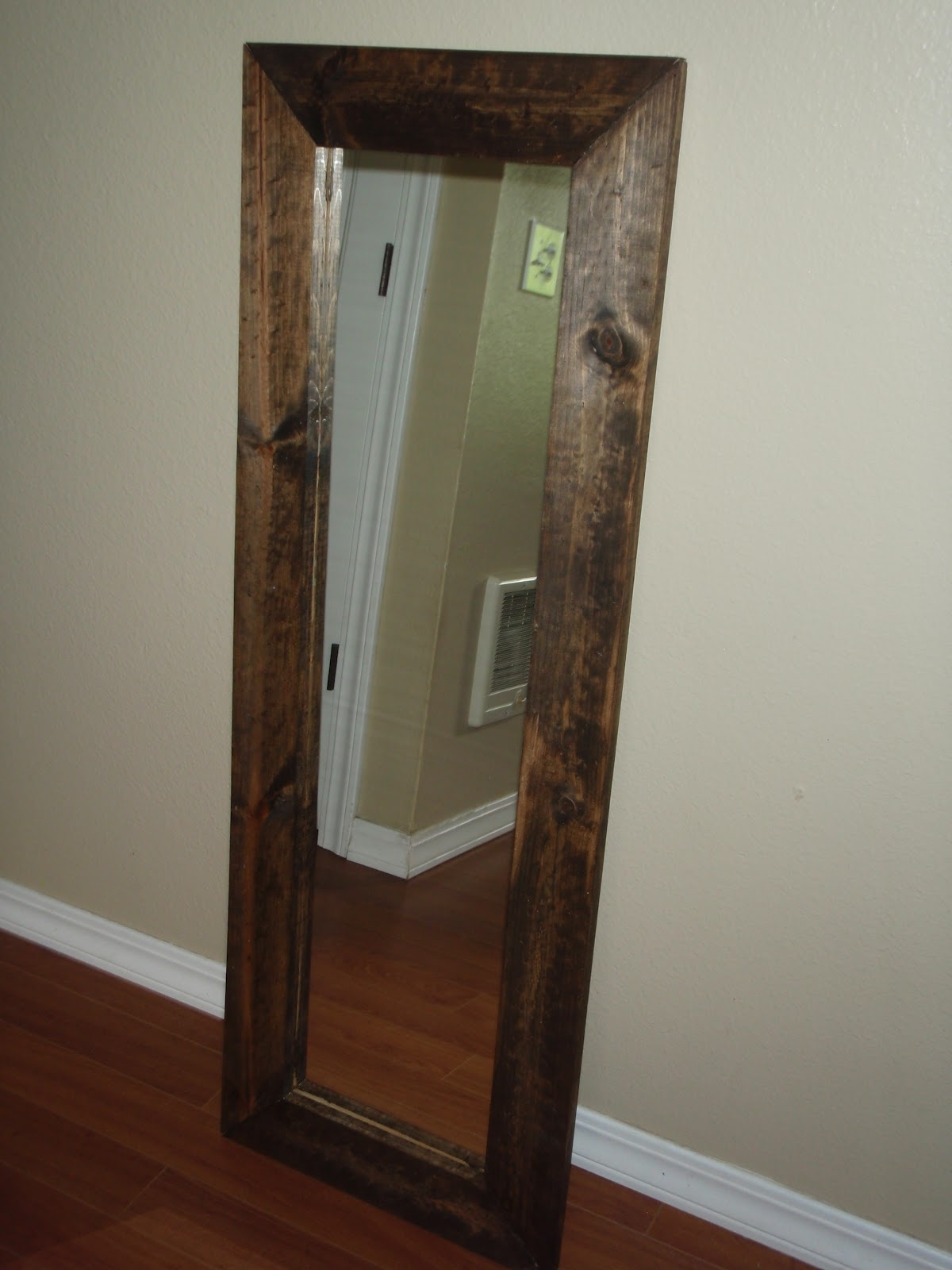 Wood Framed Floor Length Mirror