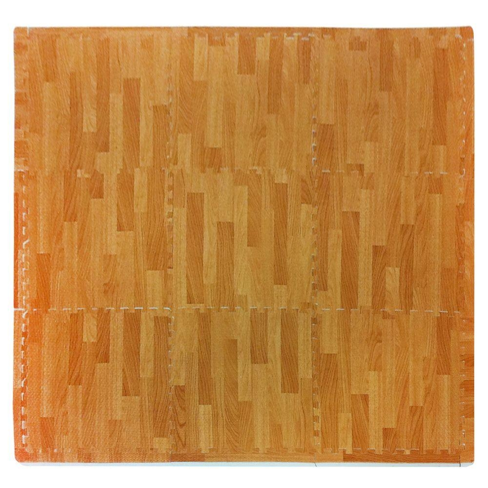 Wood Grain Rubber Mat Flooring