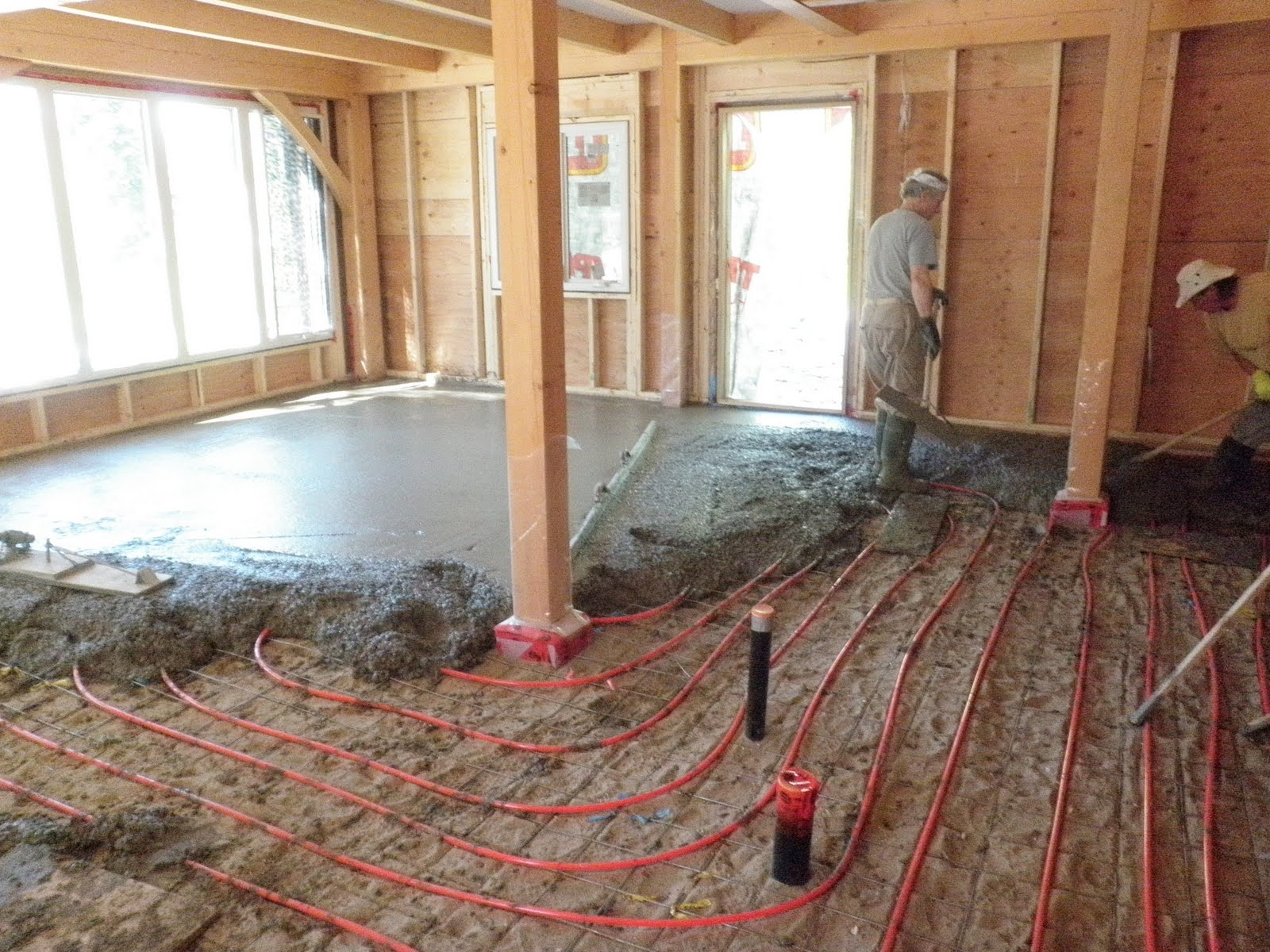 Wood Burning Radiant Floor Heating