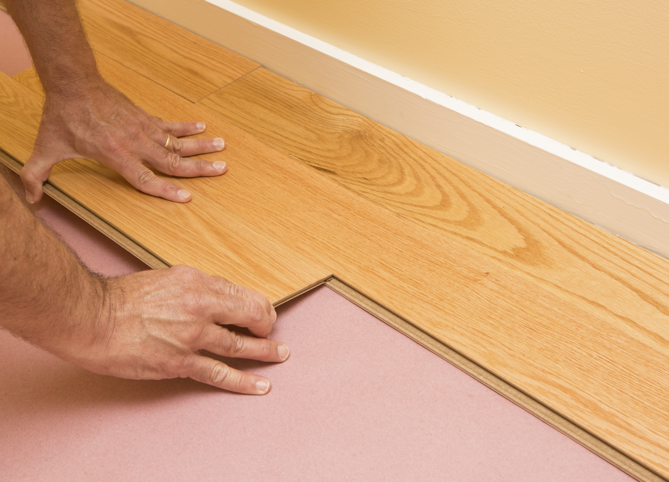 Gluing Engineered Wood Flooring Together