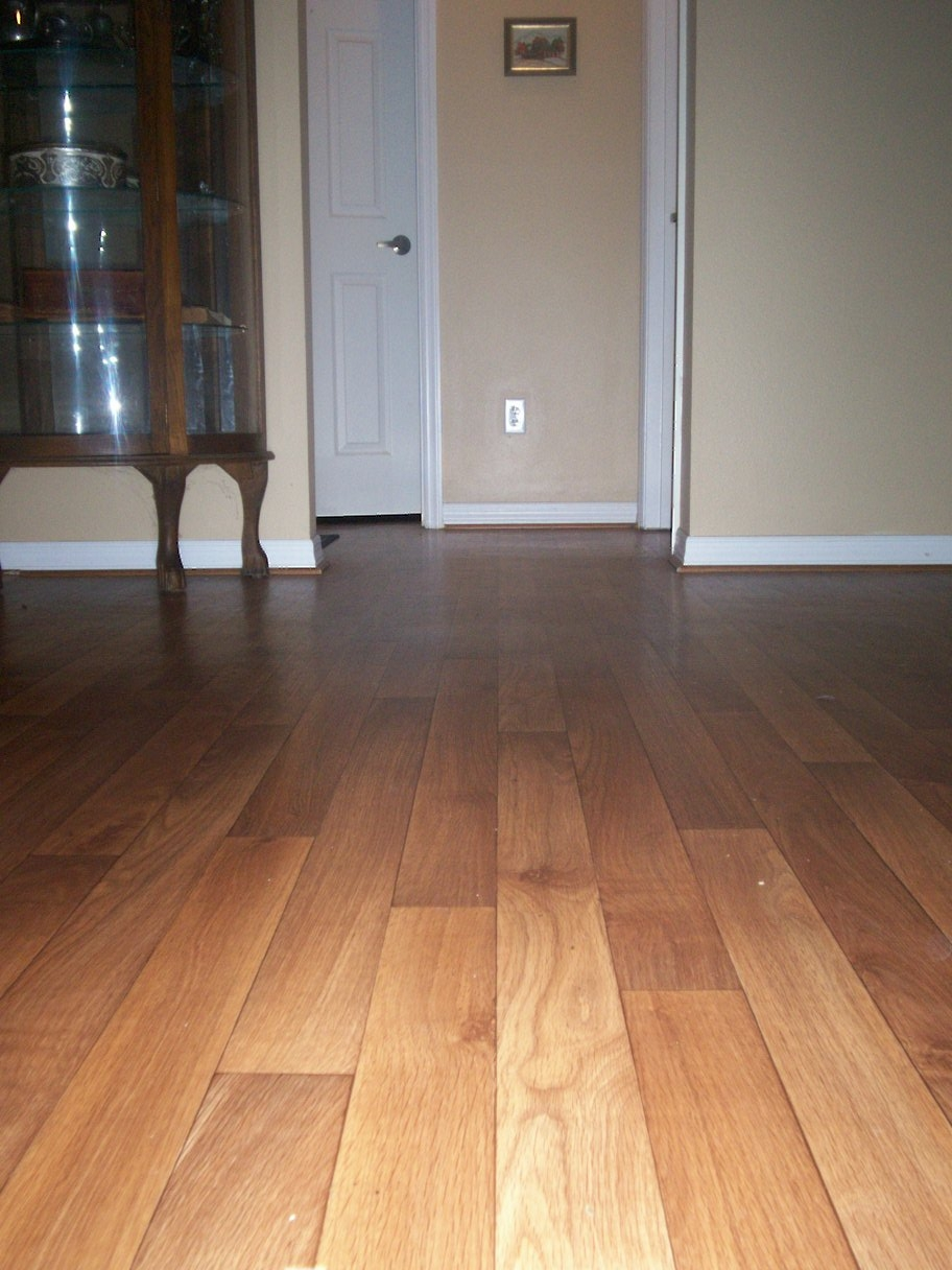 Roll Out Faux Wood Flooring