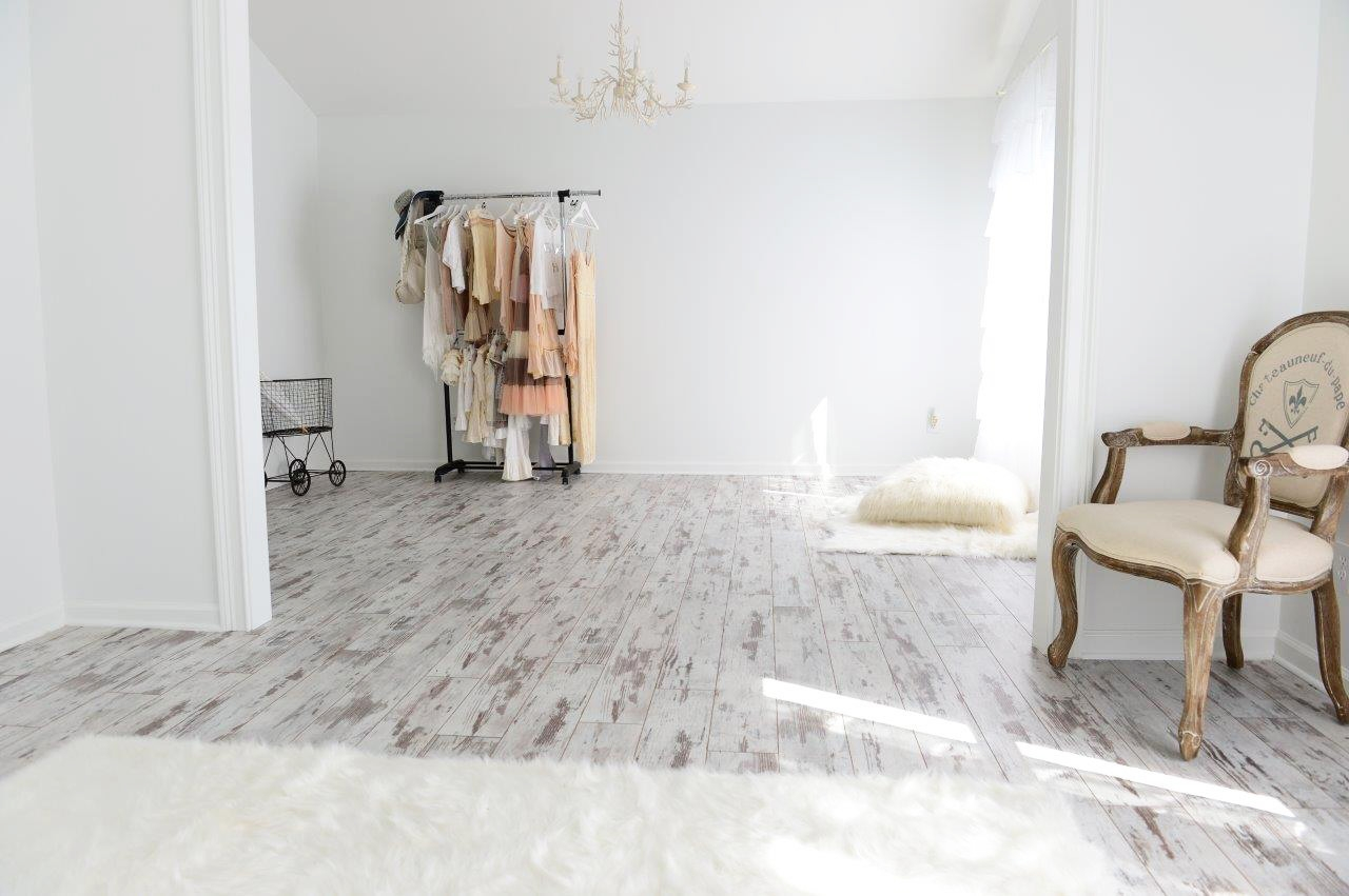 White Washed Wood Floor Tile
