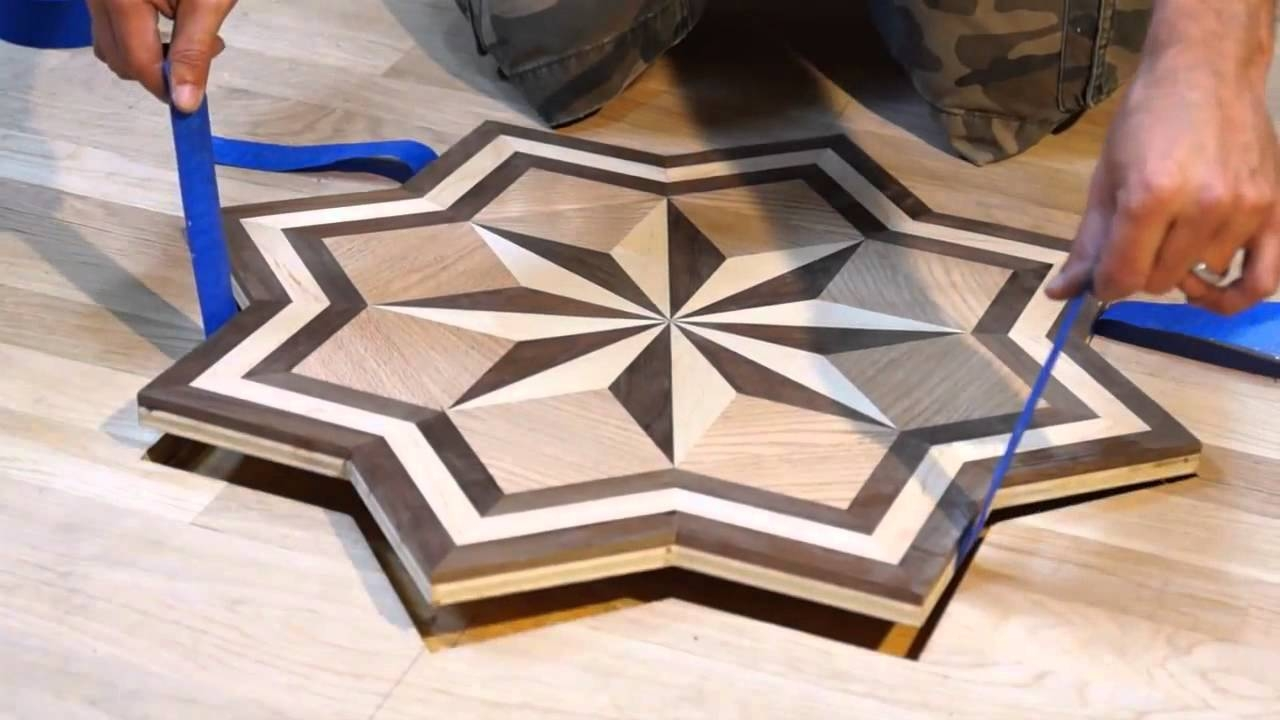Inlaid Wood Floor Medallions