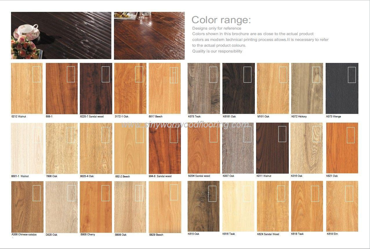 Laminated Wooden Flooring Colors