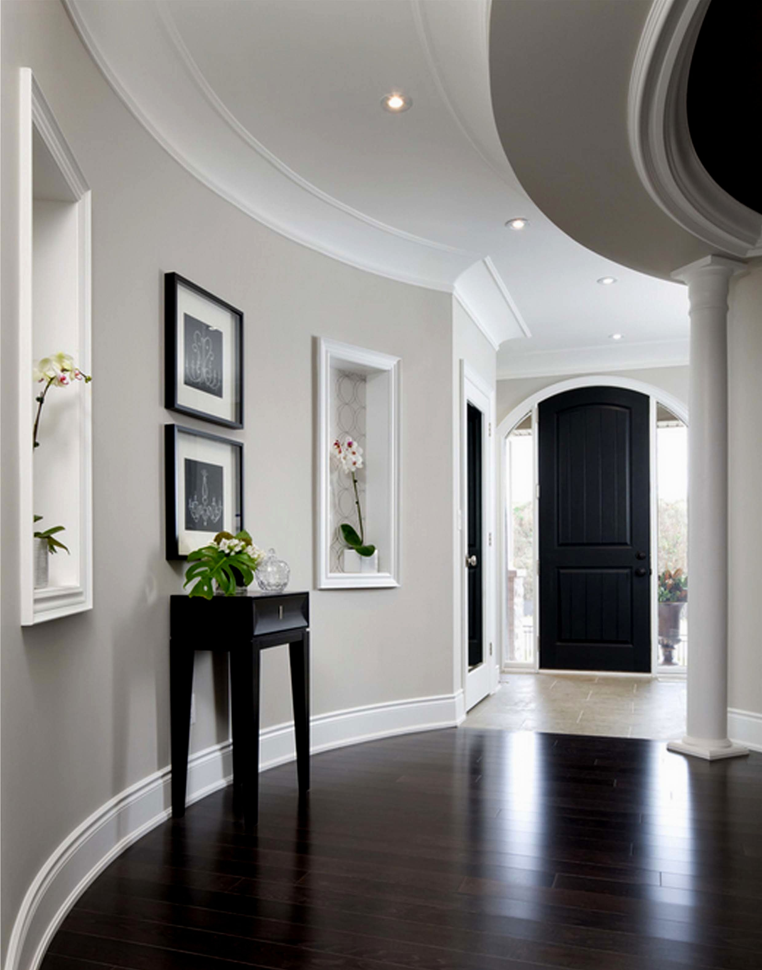 Light Gray Walls With Wood Floors