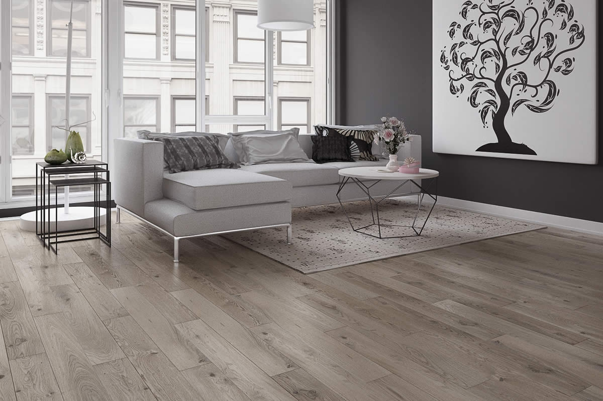 Light Grey Engineered Wood Flooring