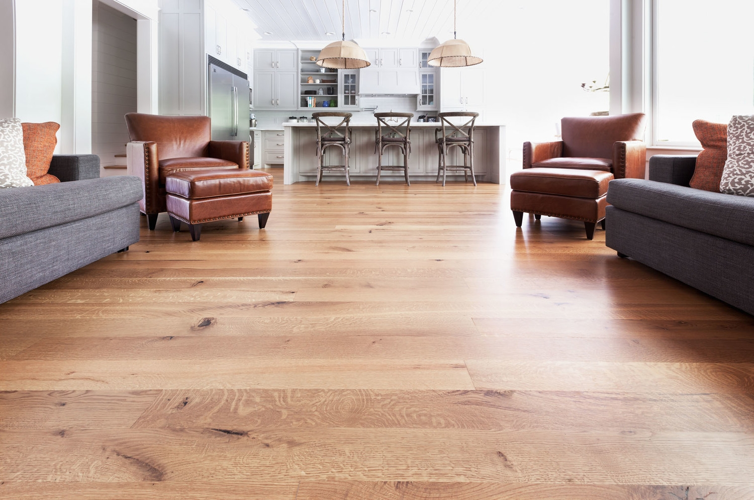 Long Plank Real Wood Top Layer Flooring