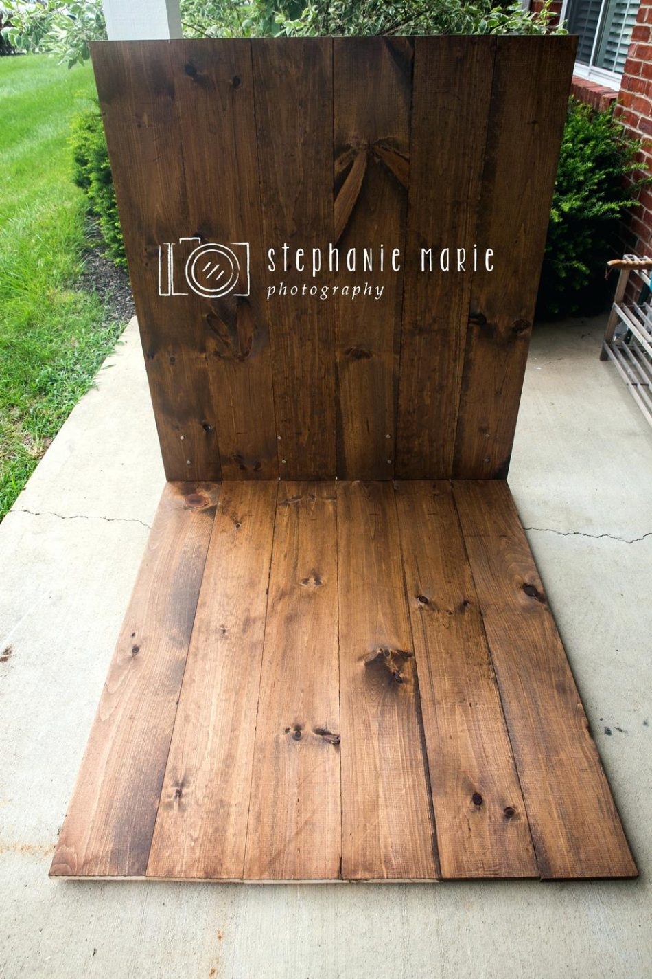 Photography Weathered Faux Wood Floor Drop Background Mat