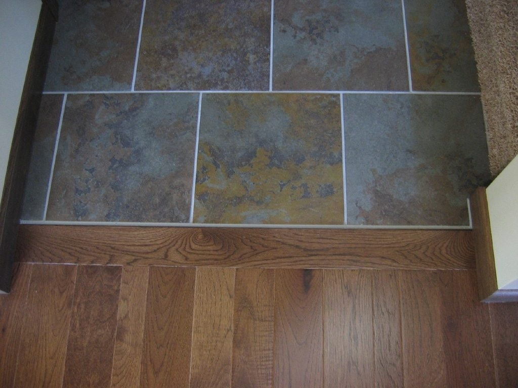 Tile To Wood Floor Transition Doorway