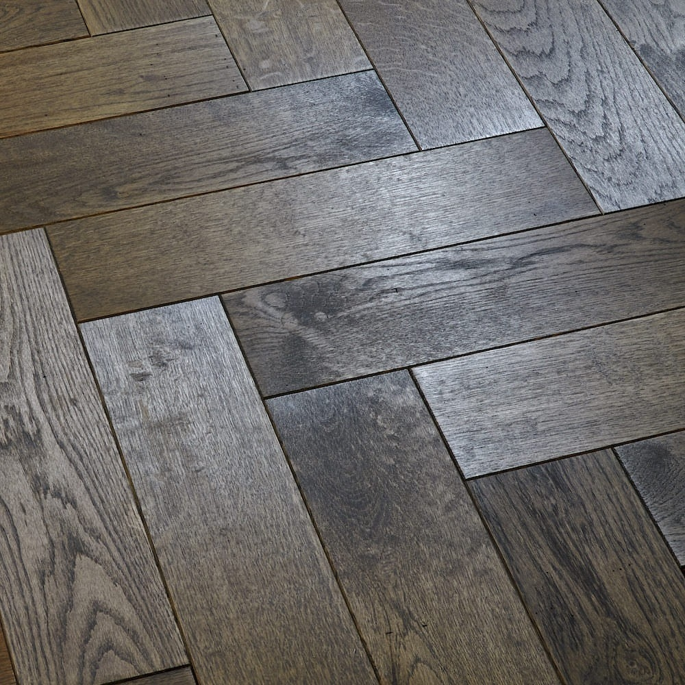 Dark Grey Solid Wood Flooring