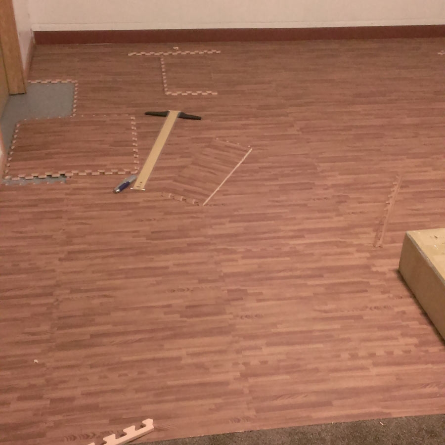 Gym Flooring Wood Look