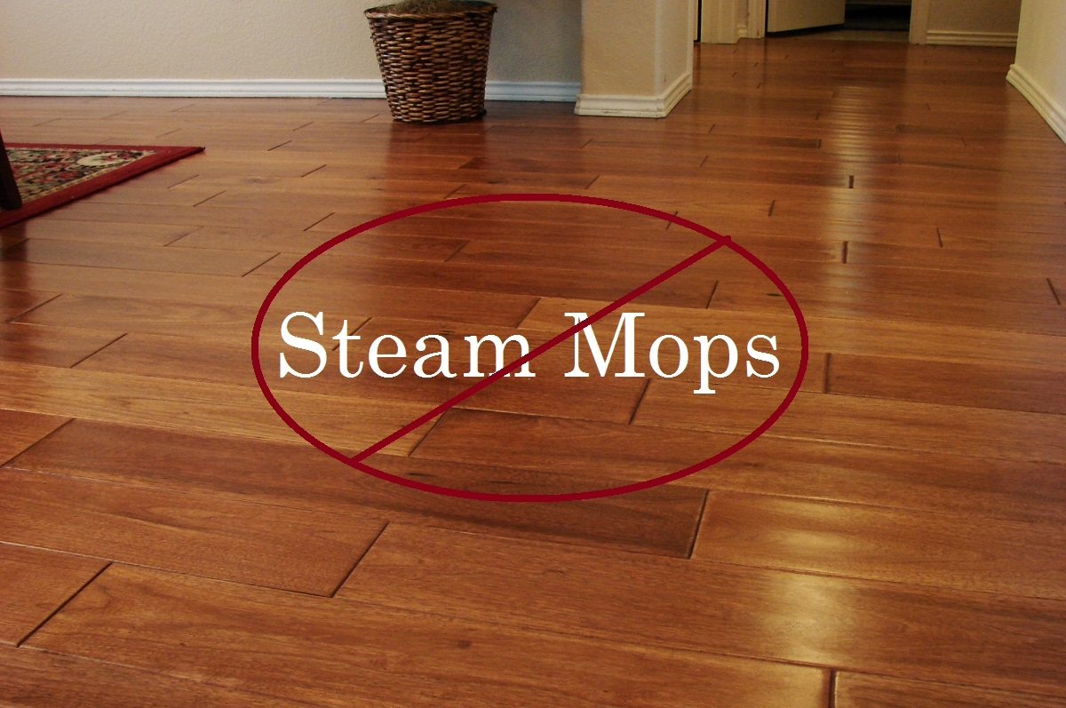 Mopping Wood Floors With Water