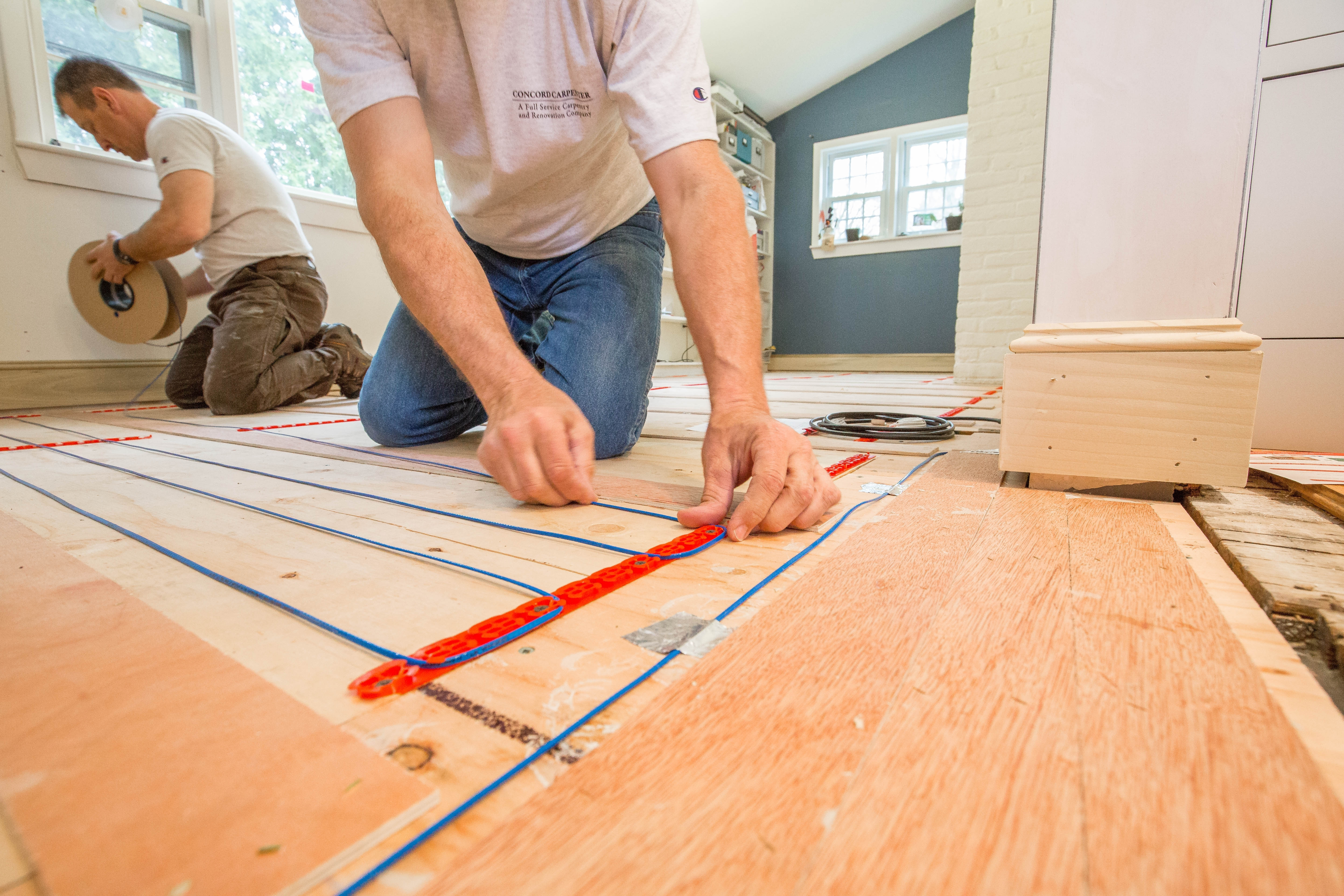Radiant Heat Under Old Wood Floorselectric heated floor under hardwood hardwood flooring ideas