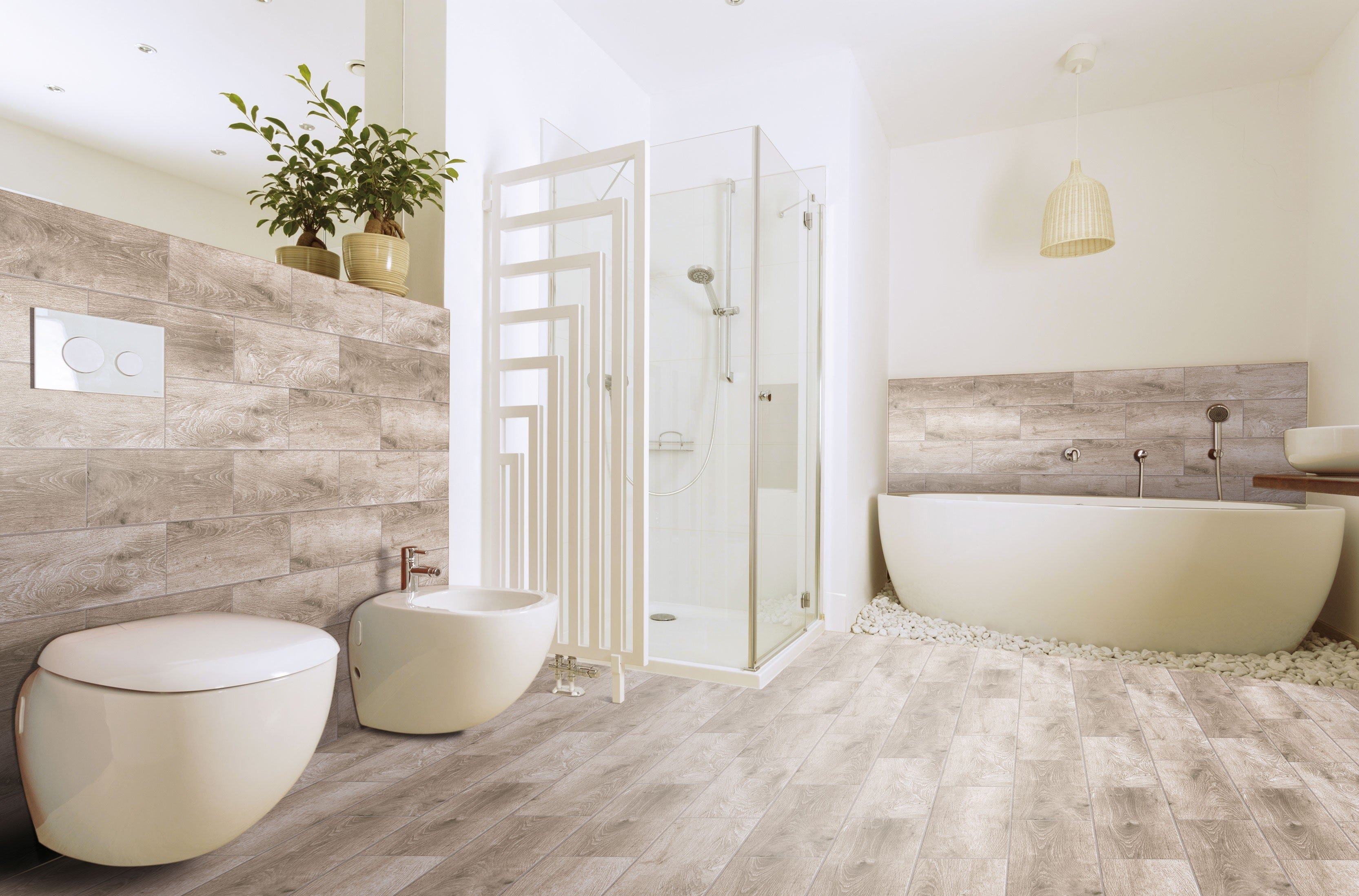 Wood Effect Bathroom Floor Tiles