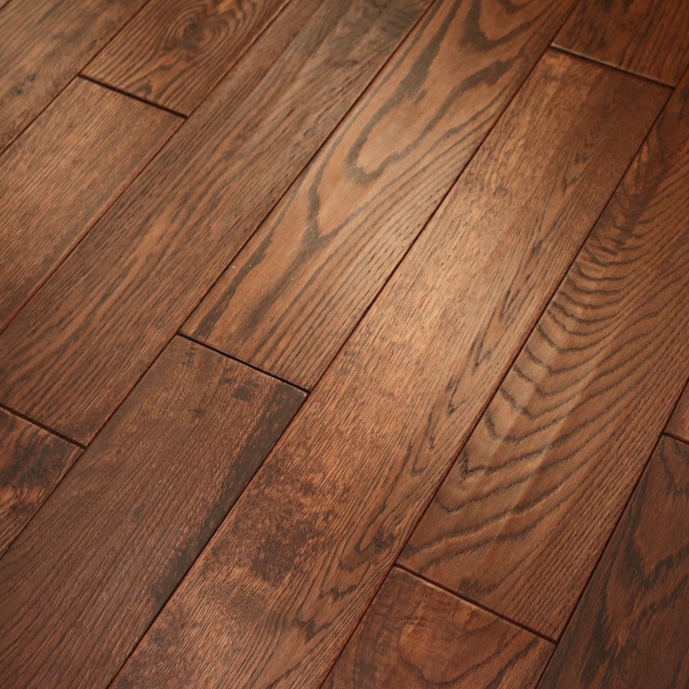 Anbo Hand Scraped Solid Wood Flooring