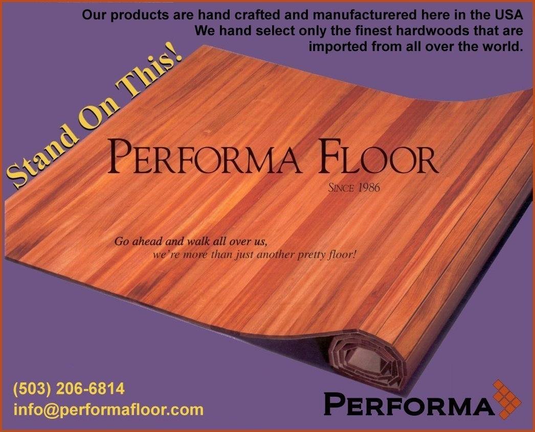 Roll Up Wooden Floor Mat