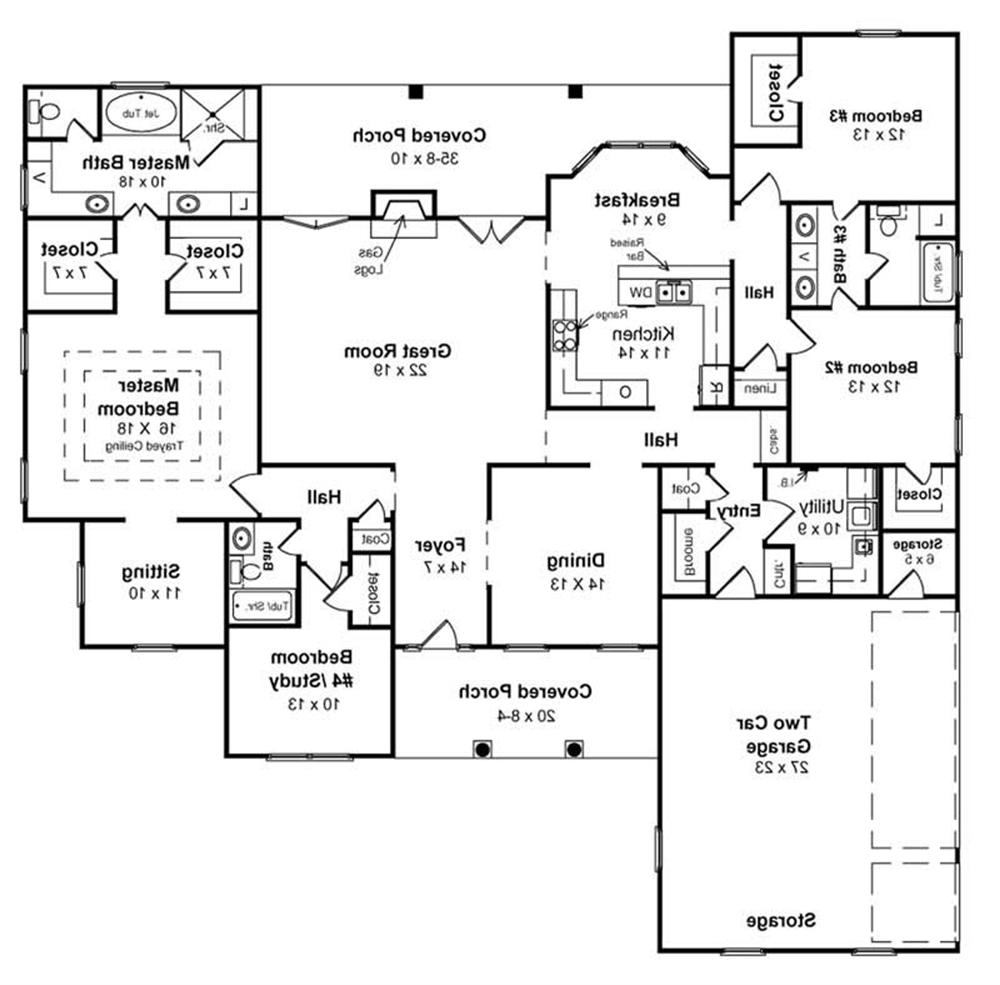 2 Bedroom Ranch House Plans With Walkout Basement