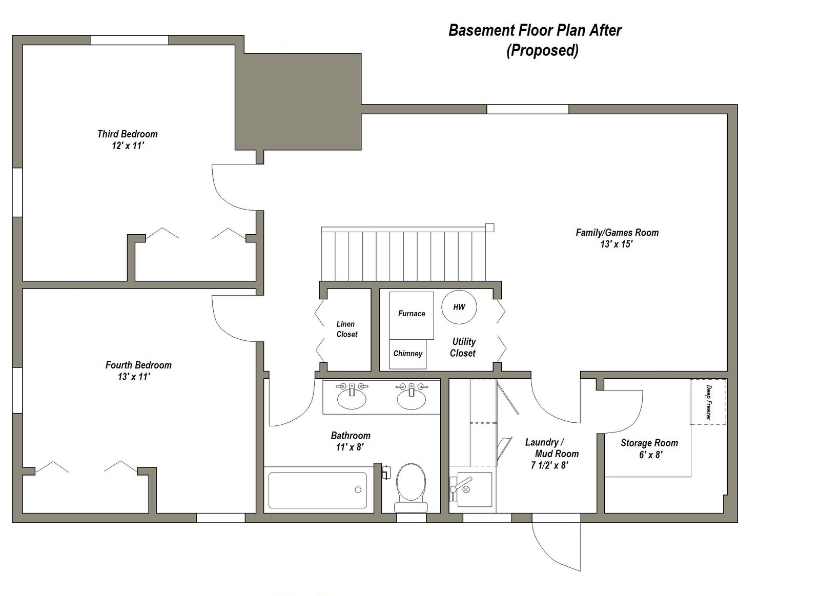 3 Bedroom House Plans With Finished Basement