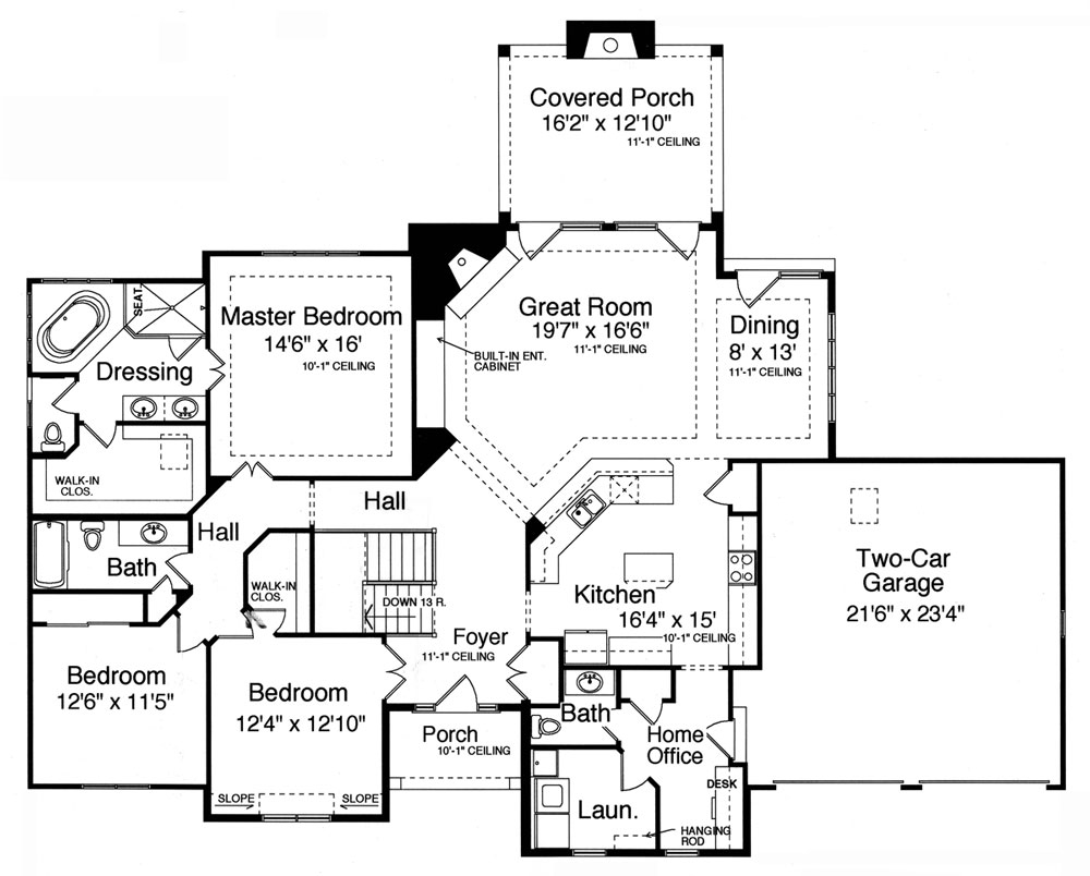 3 Bedroom House Plans With Walkout Basement