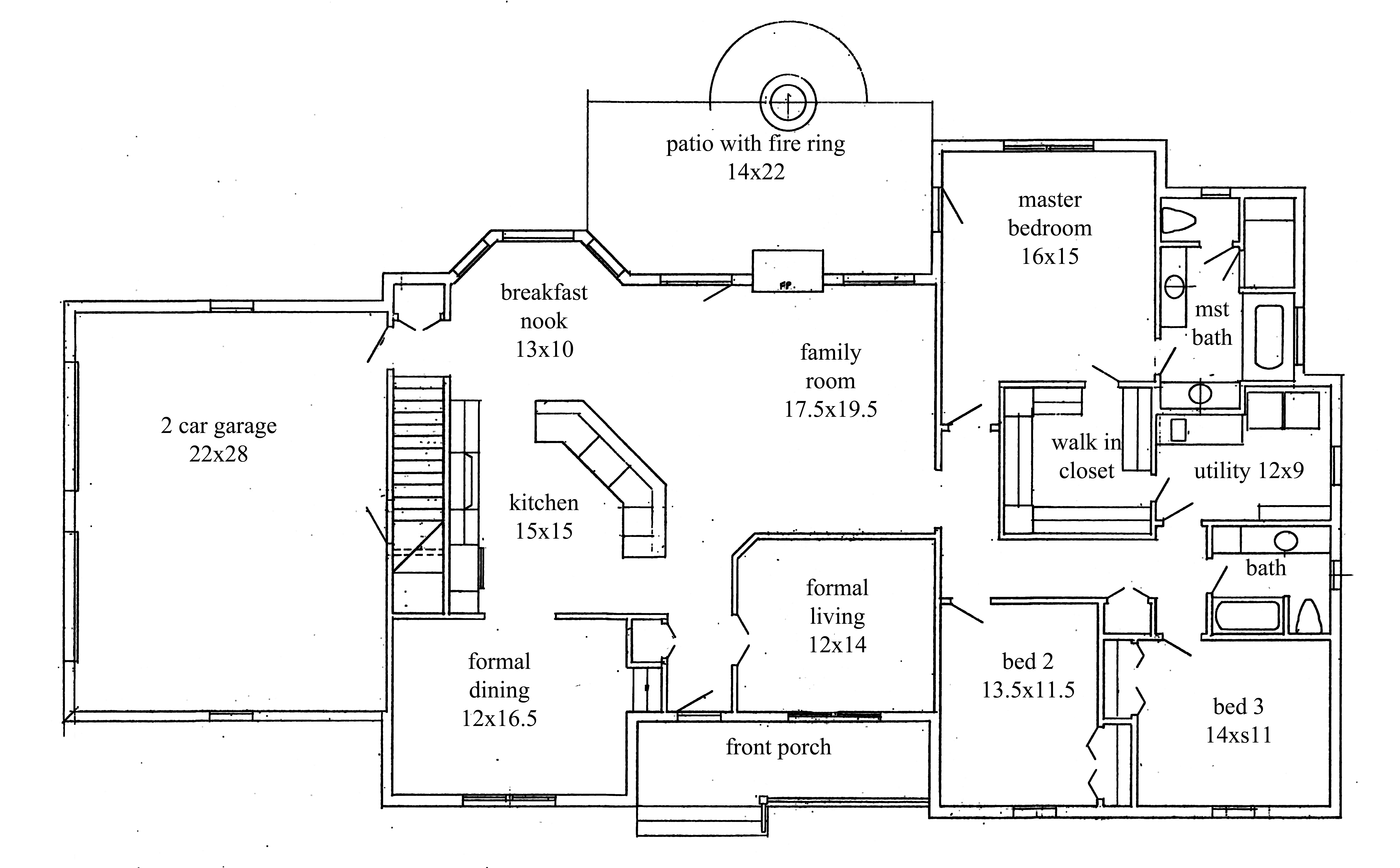 3 Bedroom Ranch House Plans With Walkout Basement