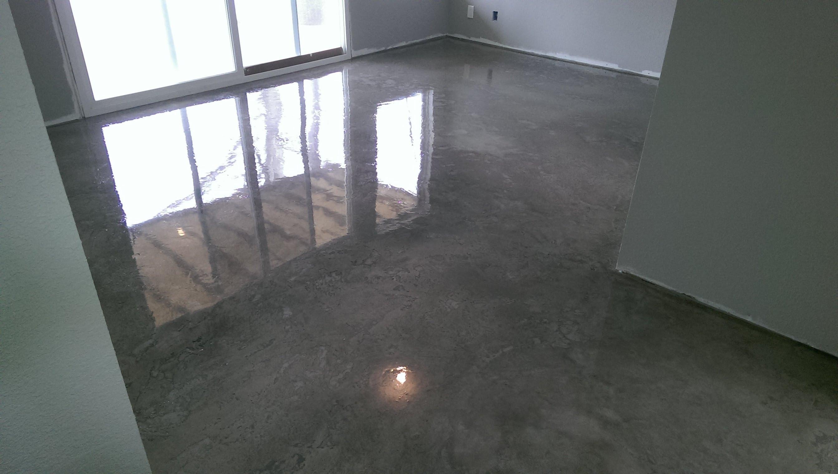 Acid Staining Concrete Basement Floor