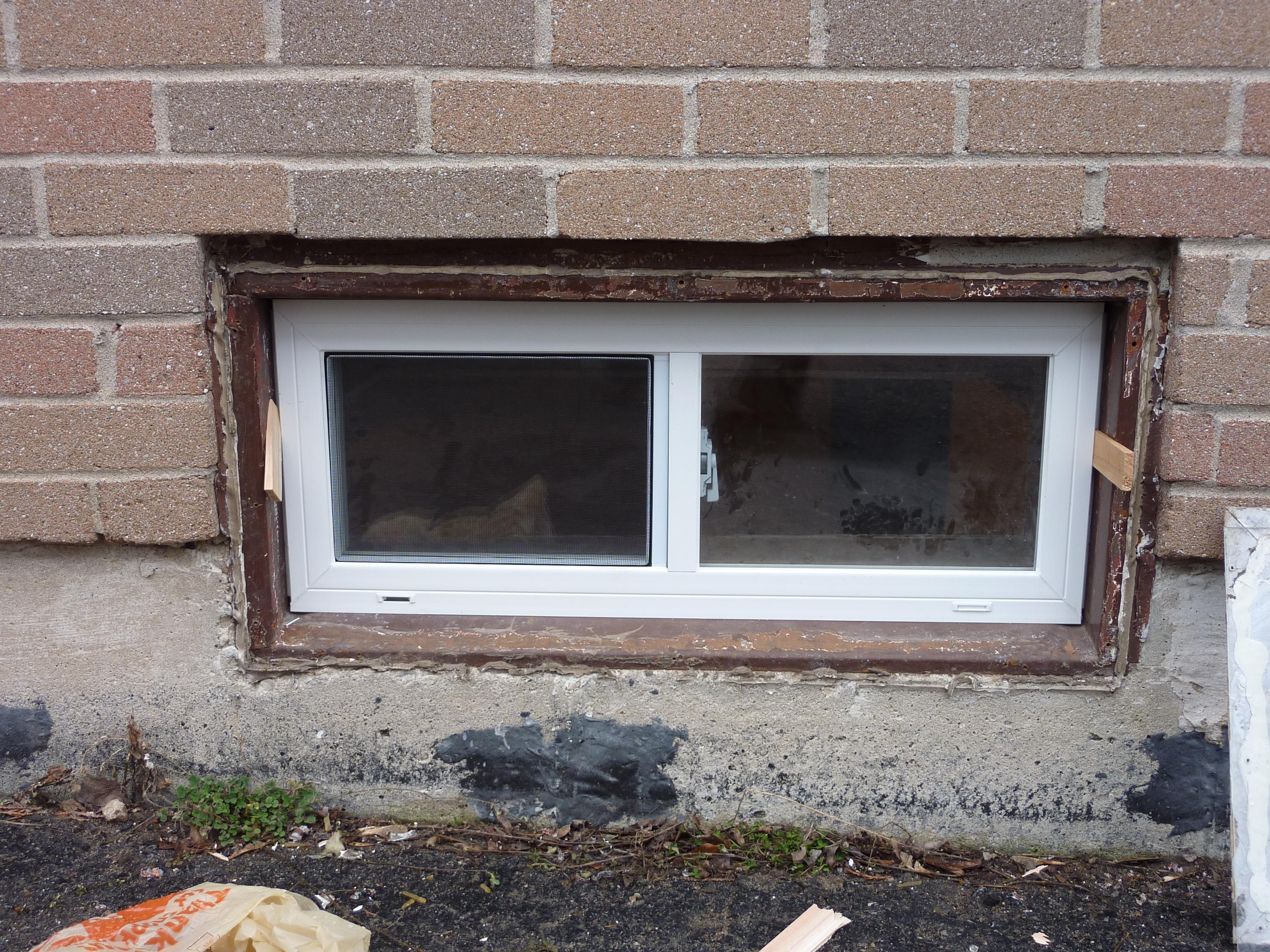 Aluminum Frame Basement Windows