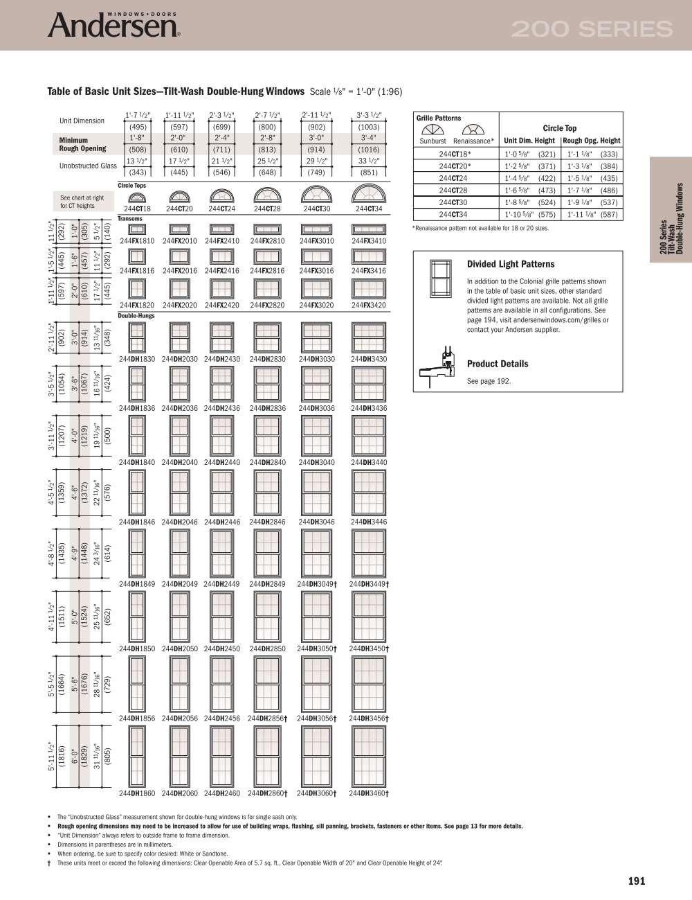 Andersen Basement Windows 200 Series