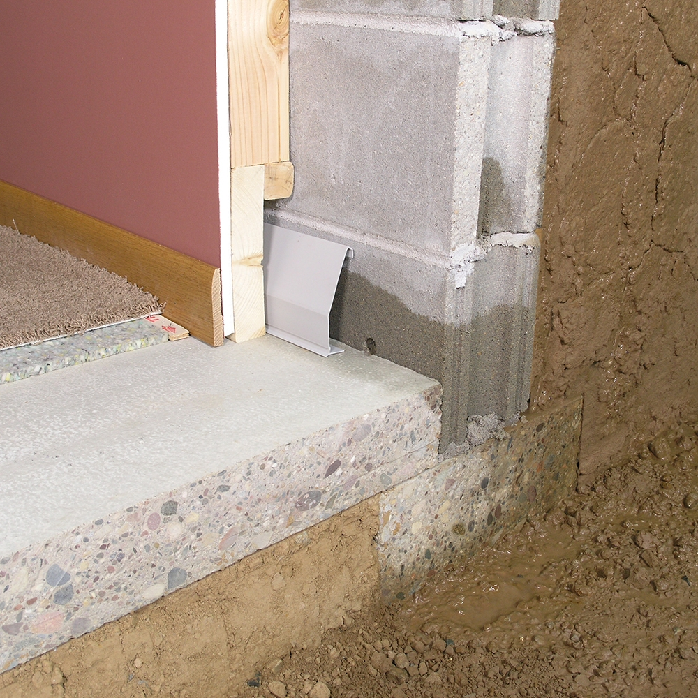 Baseboard Drainage System For Basement