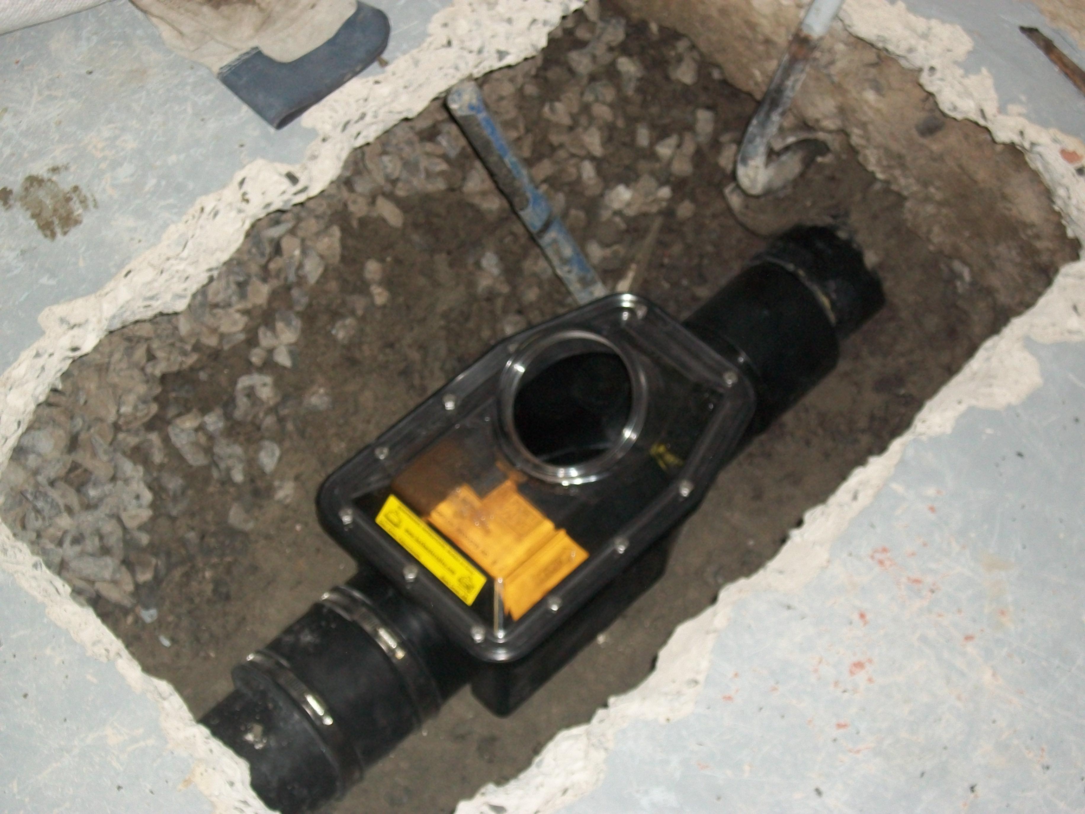 Basement Backflow Preventer