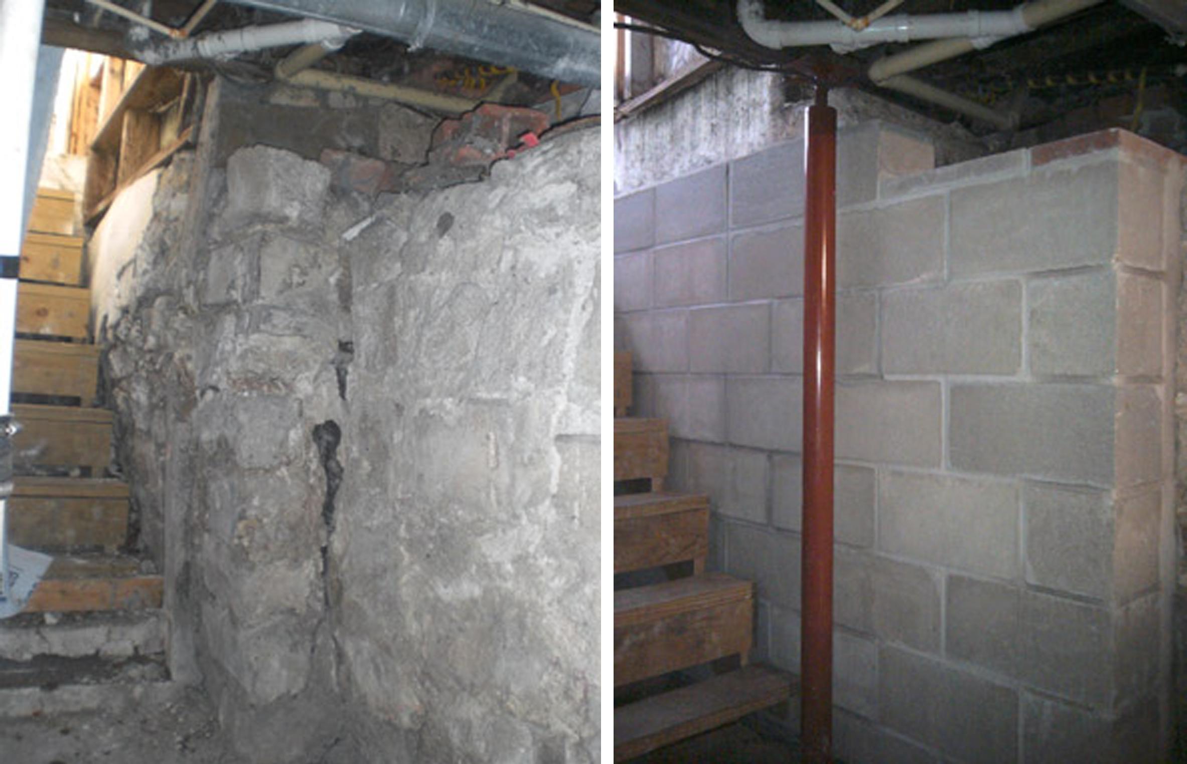 Basement Brick Wall Crumbling