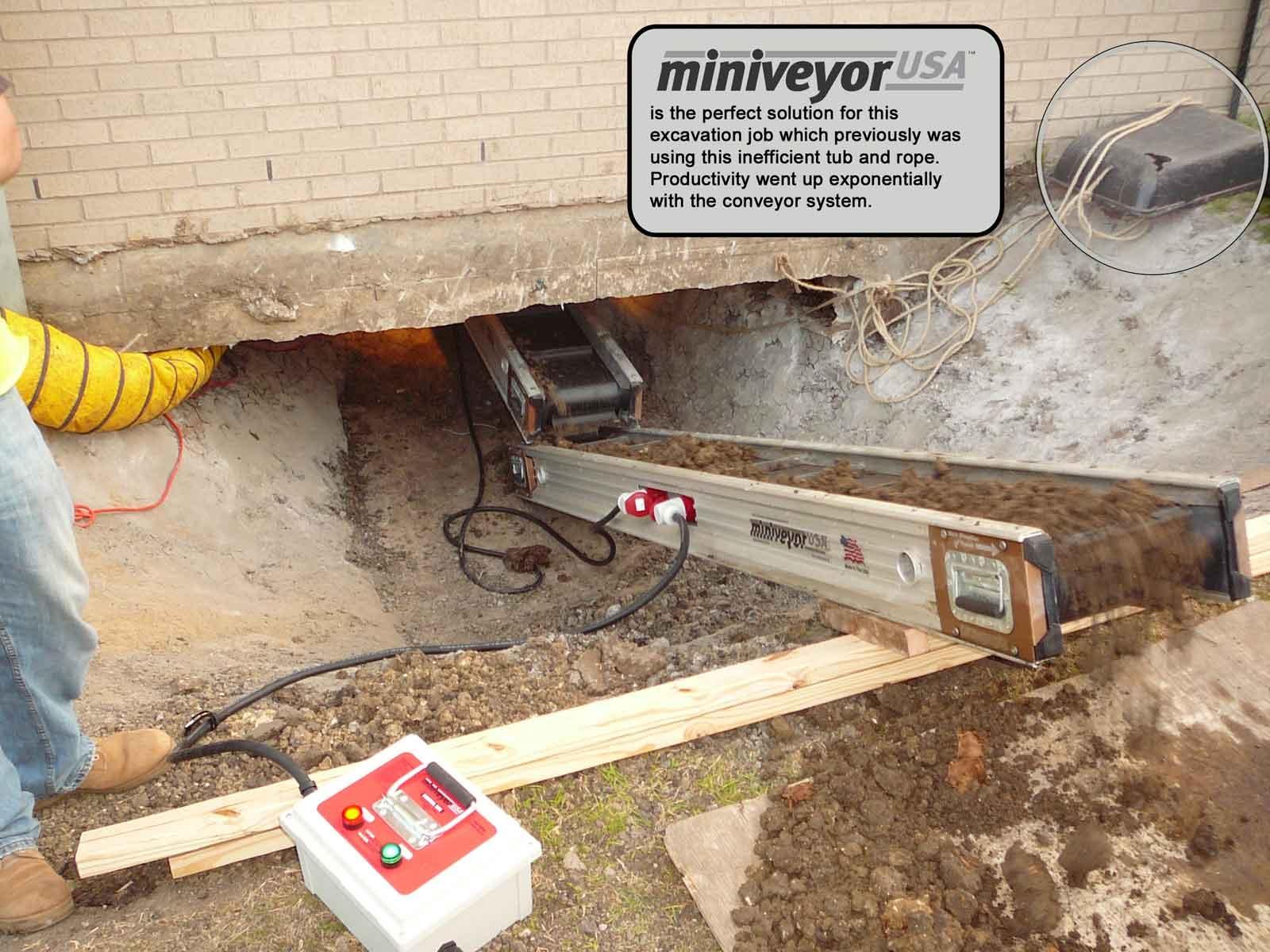 Basement Conveyor Belt Hire