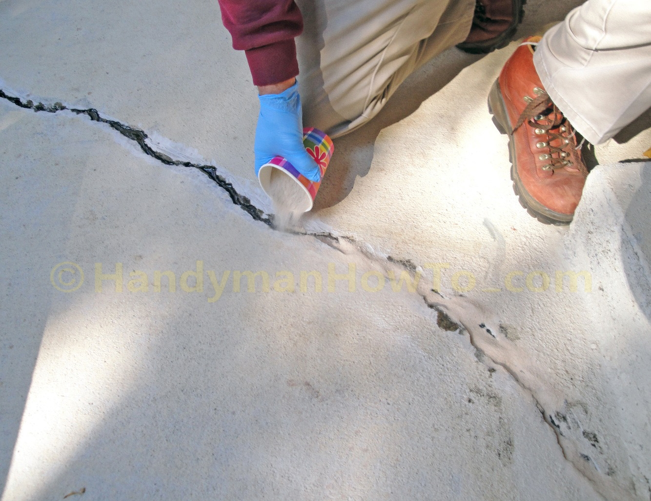Basement Floor Crack Seal