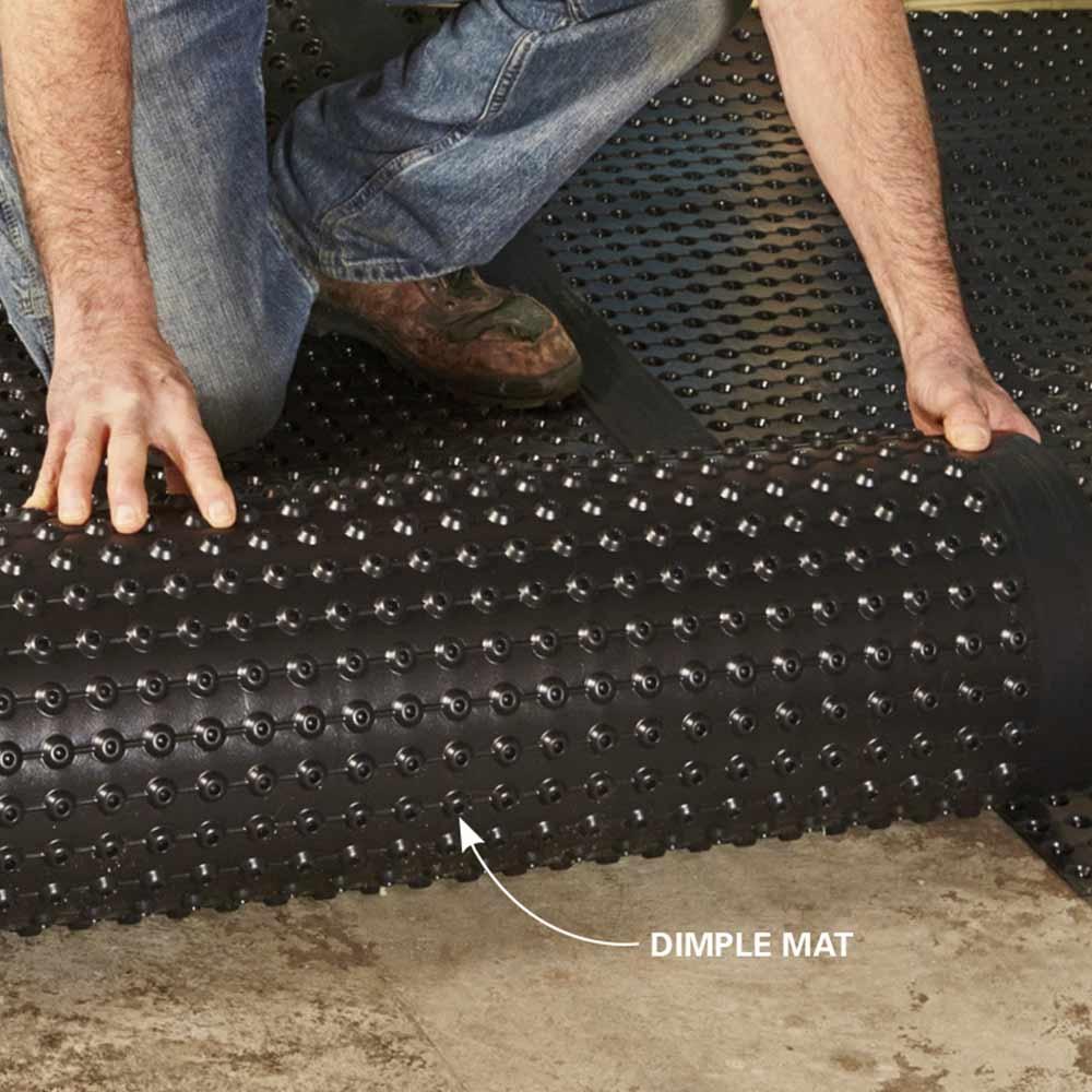 Basement Floor Drainage Mats